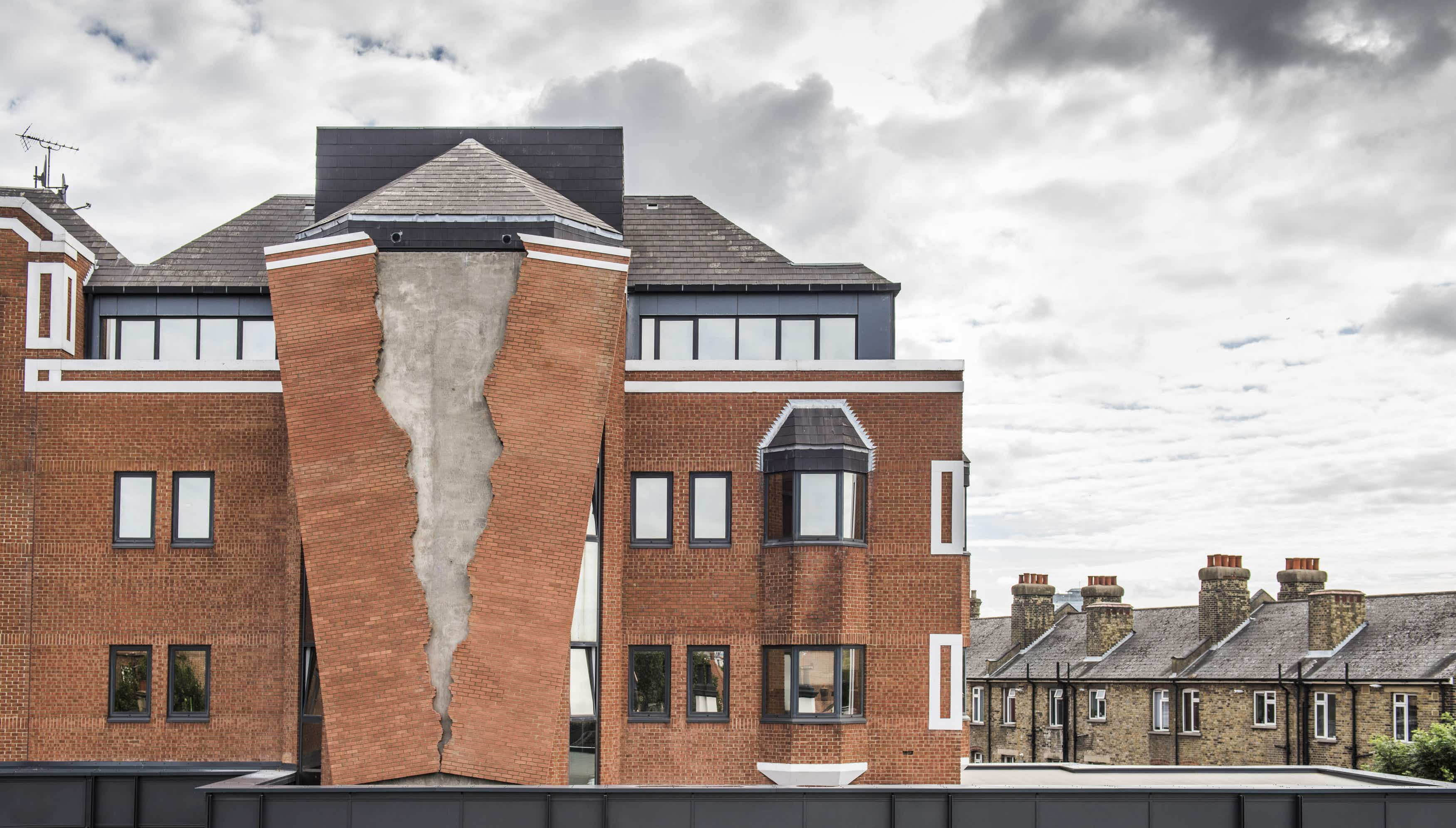 The facade of a London building has been torn apart in this new permanent installation