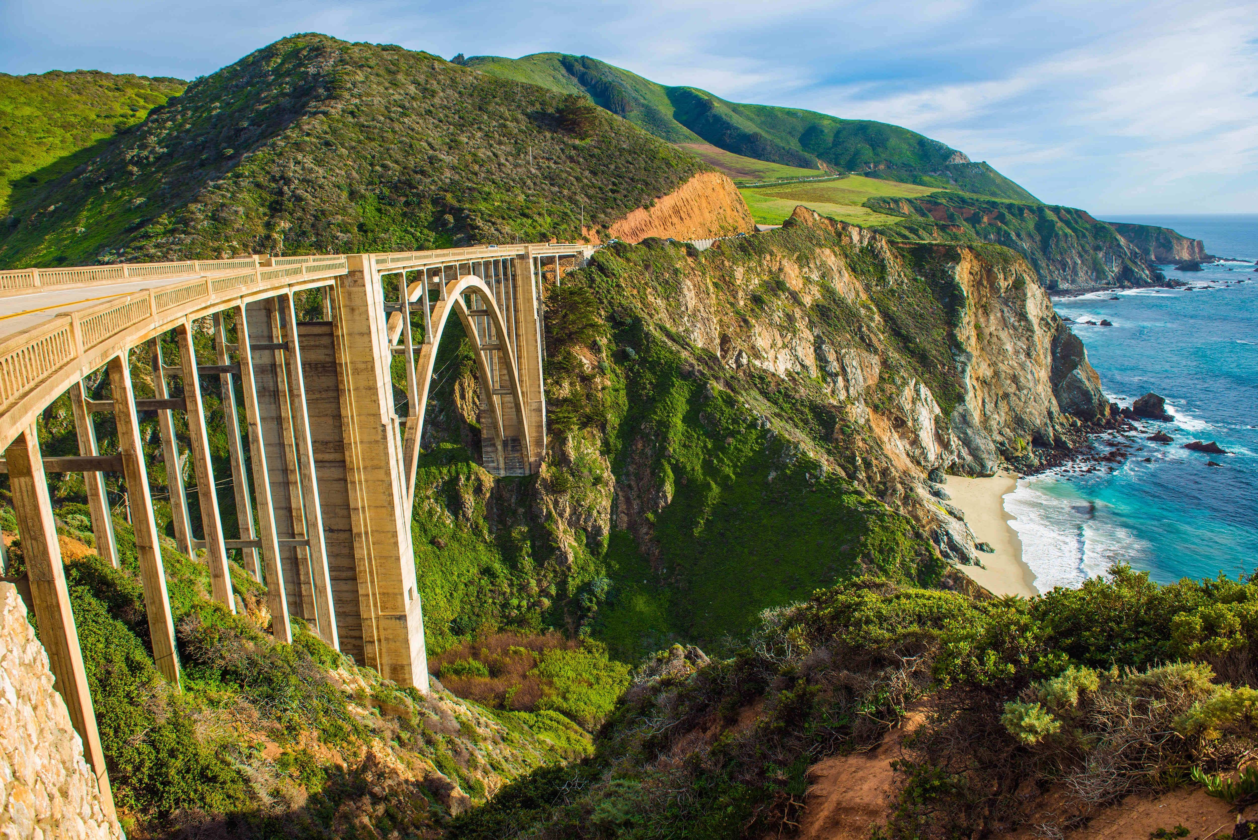 Pacific Coast Highway closures means visitors can bike 'Big Sur Island'