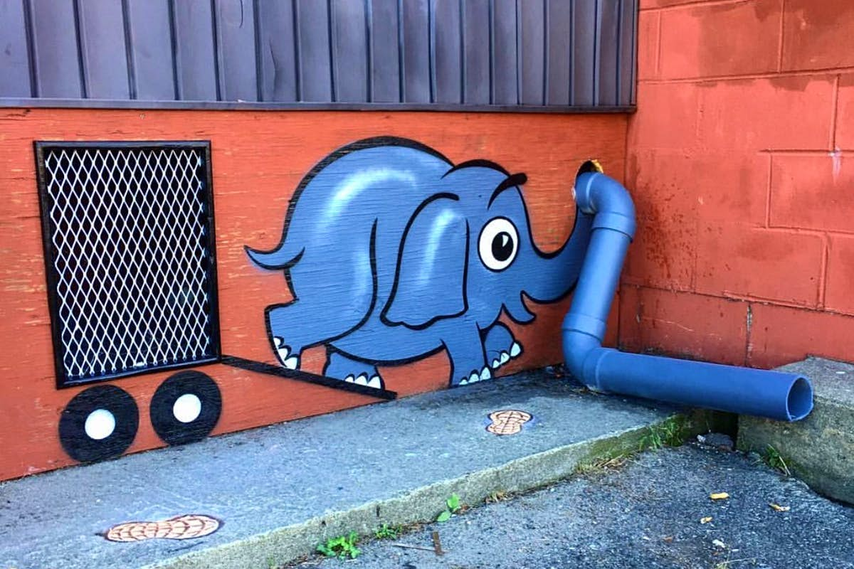 An elusive street artist is leaving whimsical pieces around New York