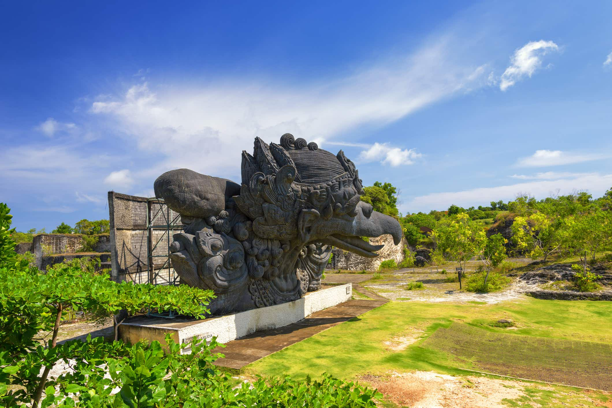 This statue of Hindu god Wisnu under construction in Bali is set to be one of the largest in the world