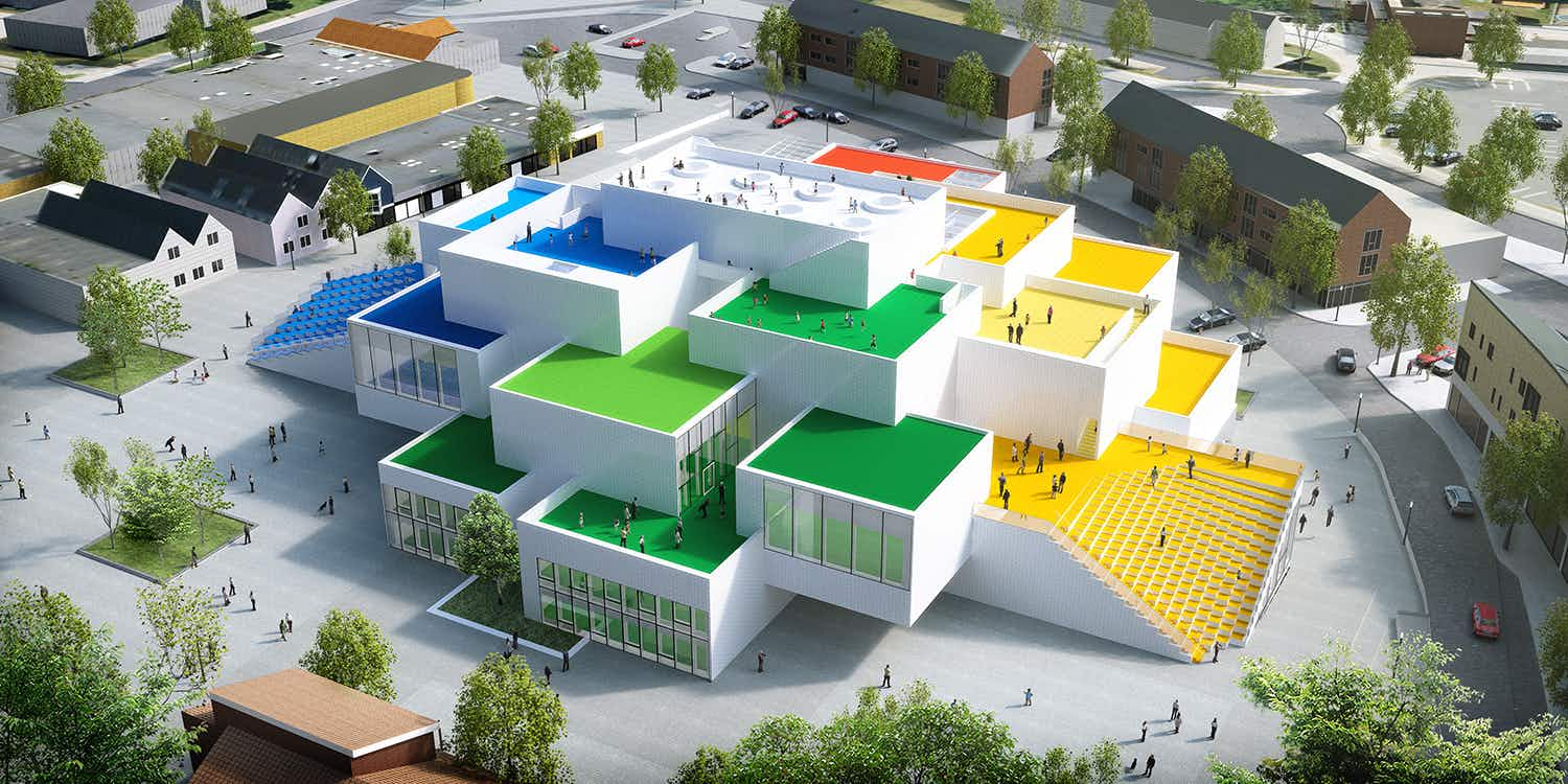 See drone footage of the incredible LEGO house set to open in Denmark this September