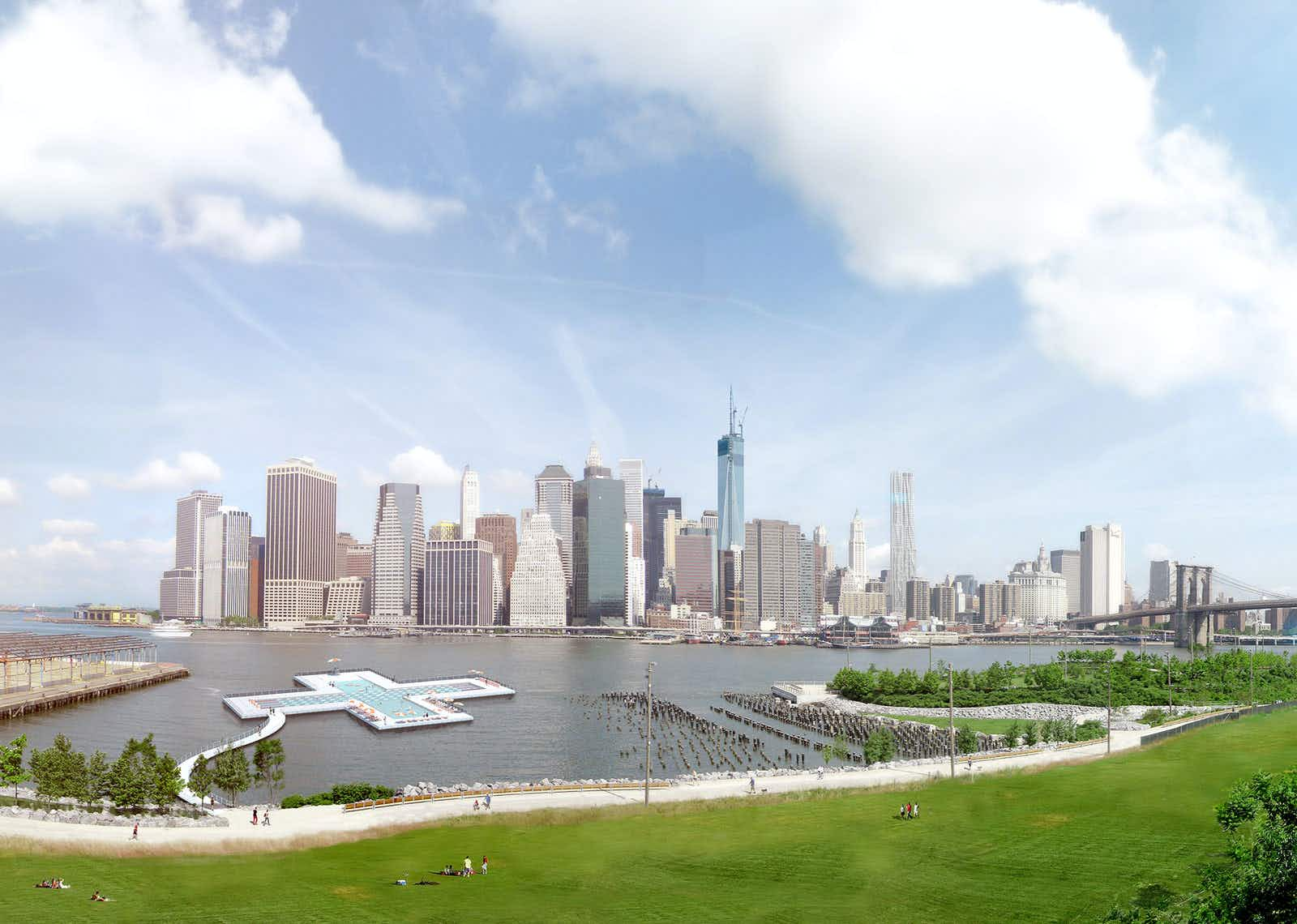 This amazing floating plus pool could soon allow people swim in New York's rivers