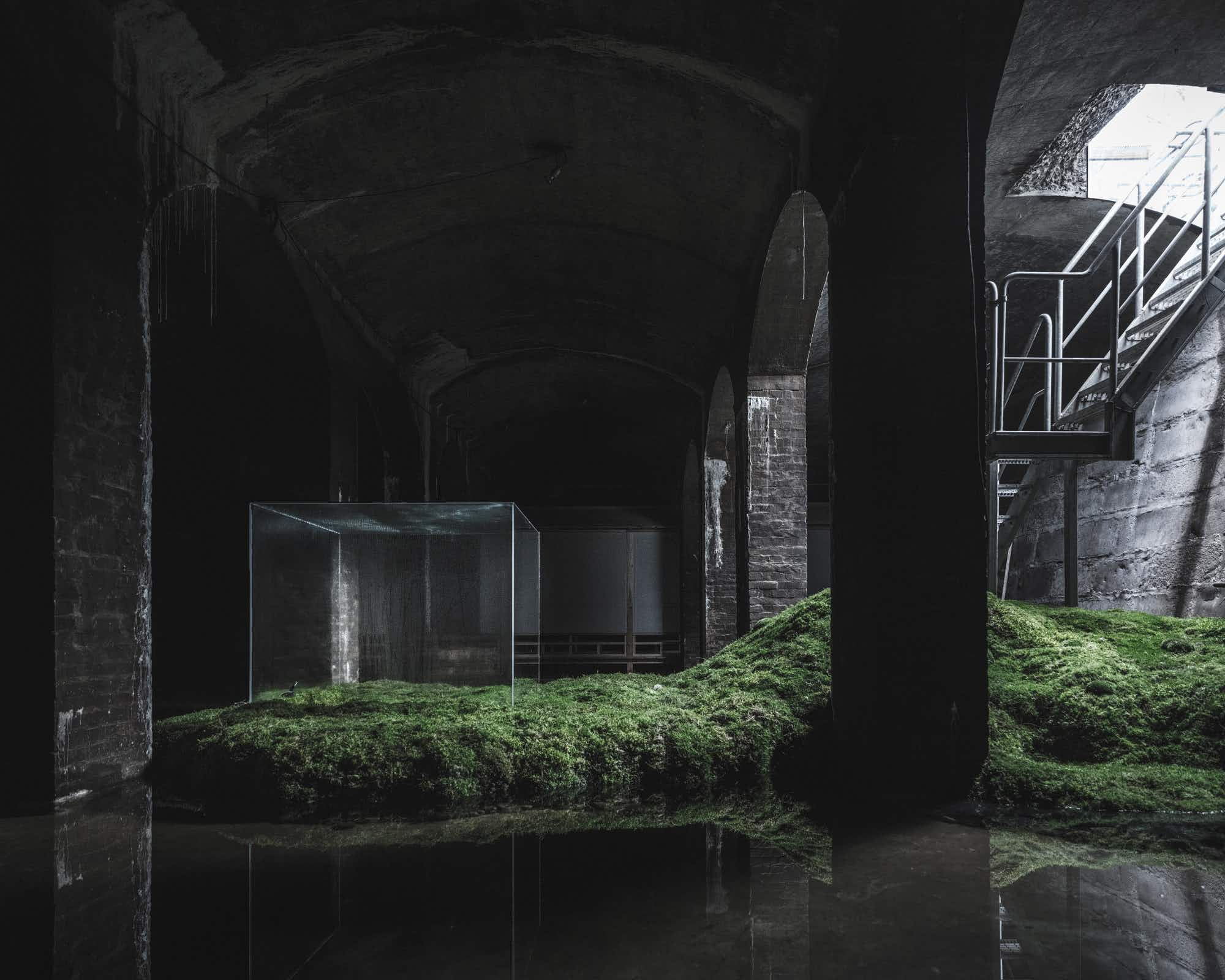 See a subterranean exhibition of water and light beneath Copenhagen