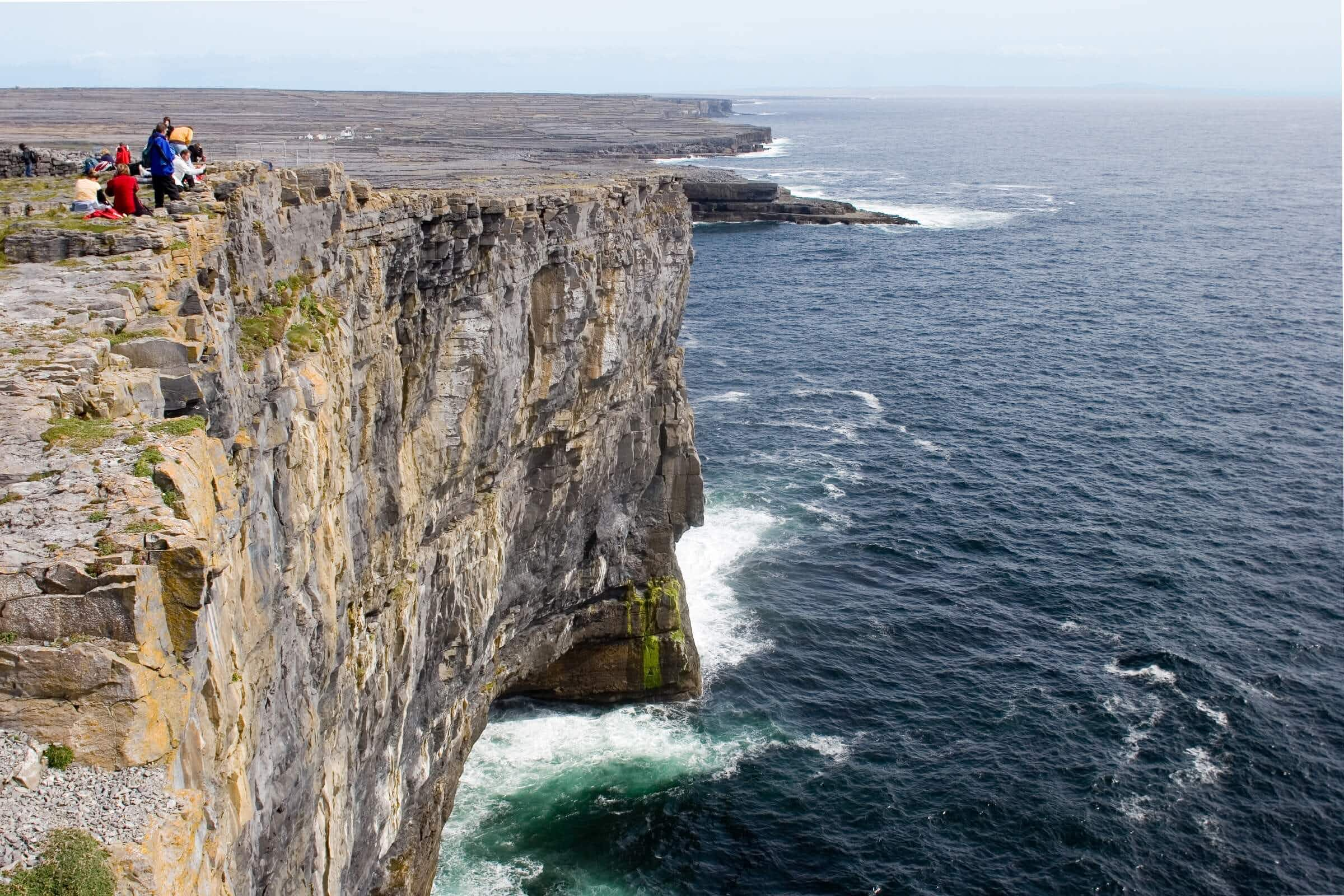 This video of a dad facing his fear of heights on an Irish cliff is an inspiration to all of us