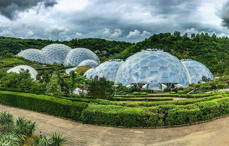 The biomes of the Eden Project in Cornwall