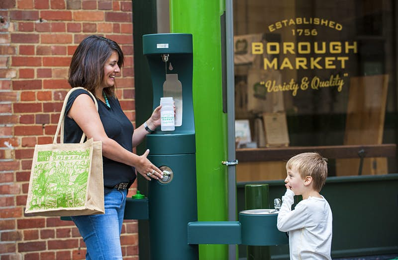 Travel News - Drinking fountains introduced as Borough Market announces plan to be plastic-free in six months.
