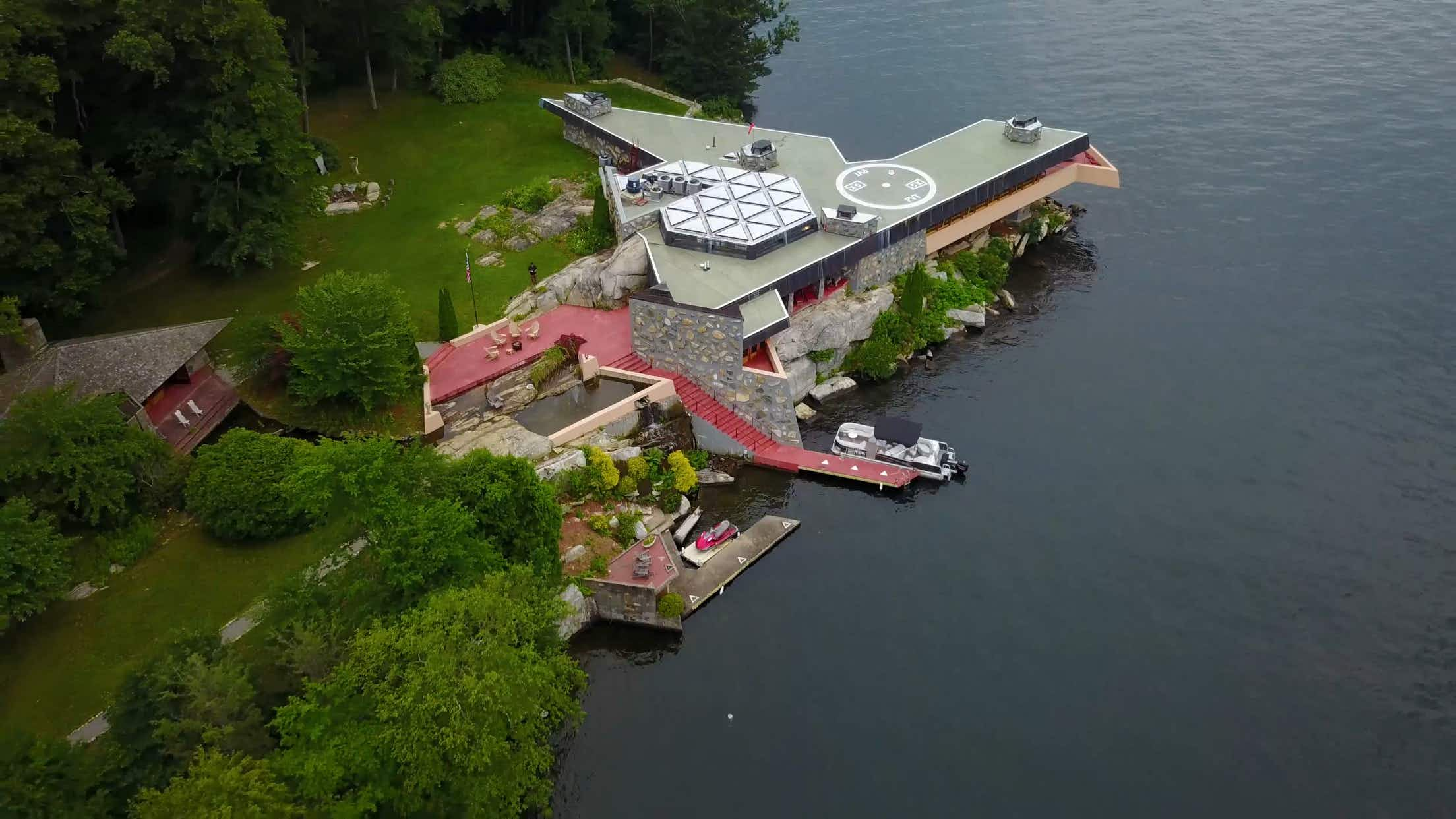 Own this private island with a Frank Lloyd Wright-designed home for just $15m