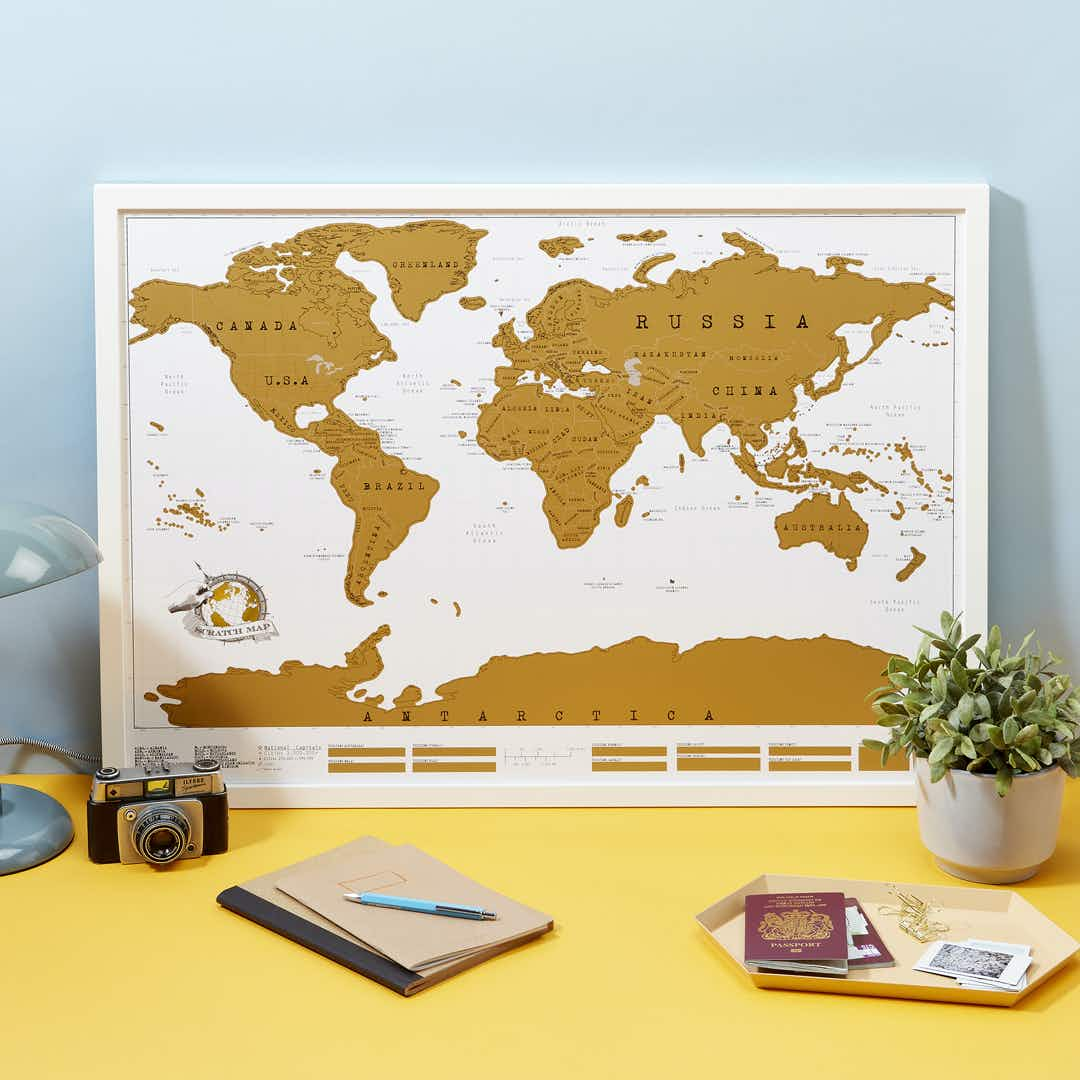 These maps will allow you to scratch off places you've visited around the world