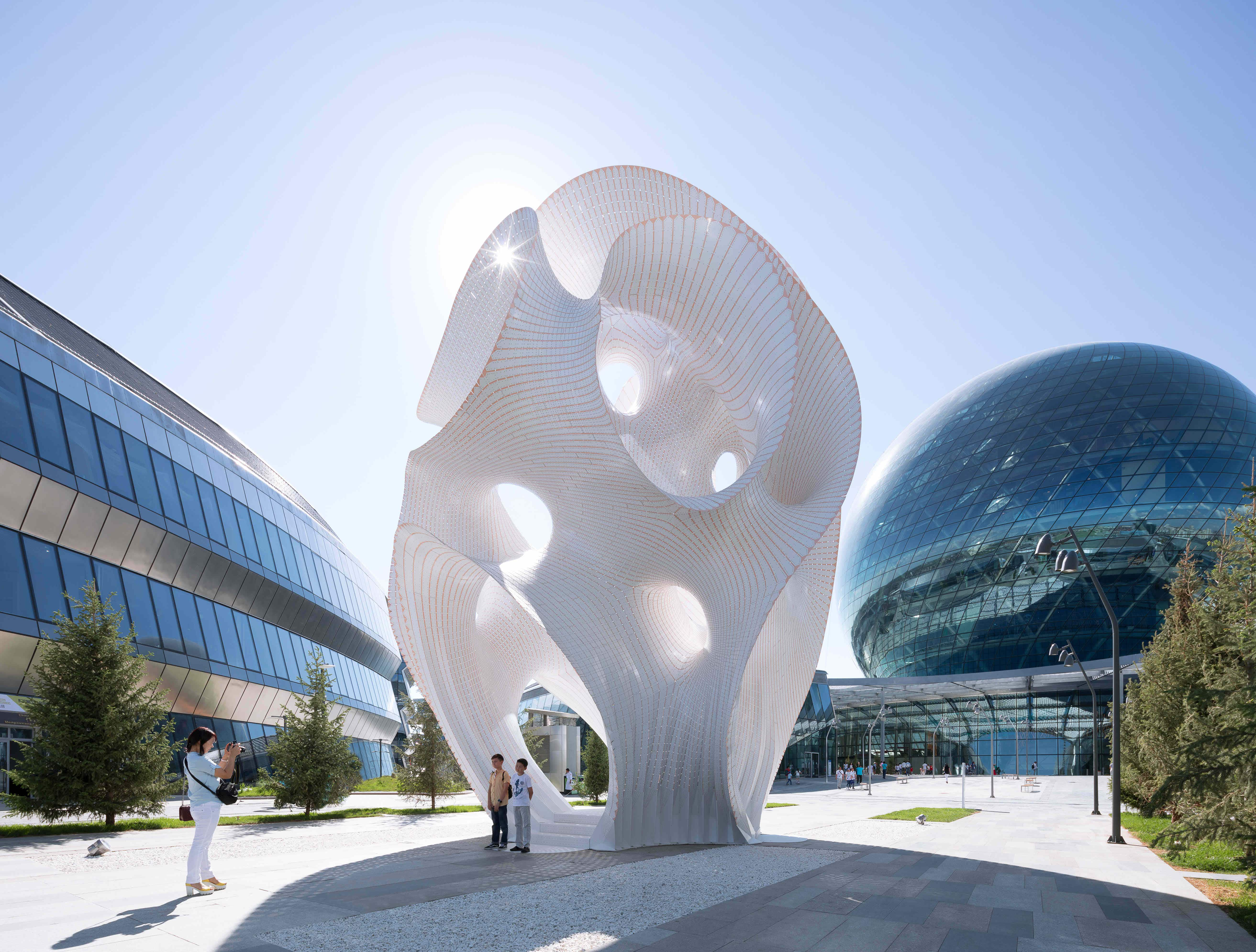 This public piece of art has been unveiled in Kazakhstan as a space for discovery and wonder