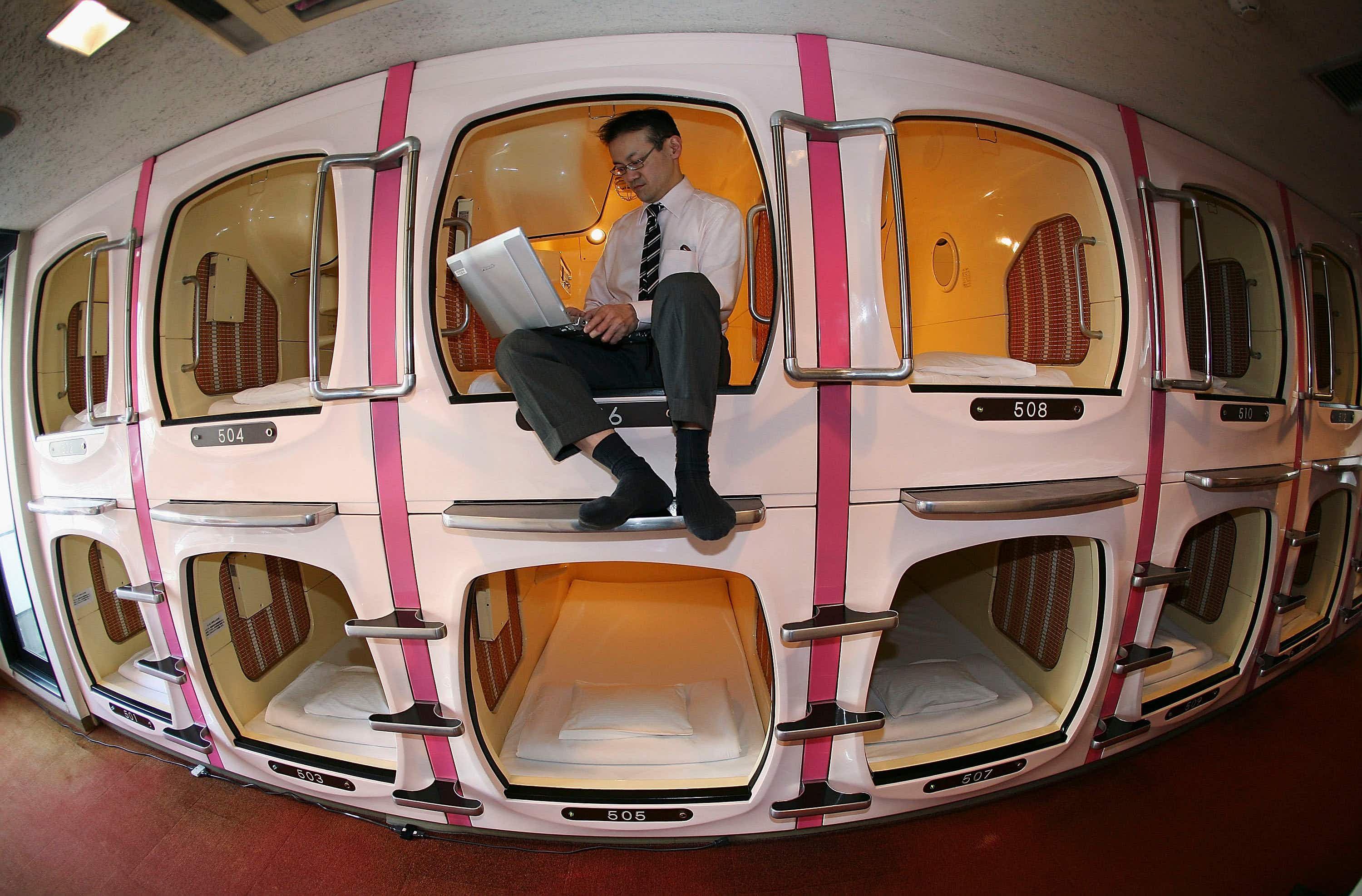 Would you spend a night at the airport in Mexico City's first low-cost capsule hotel?