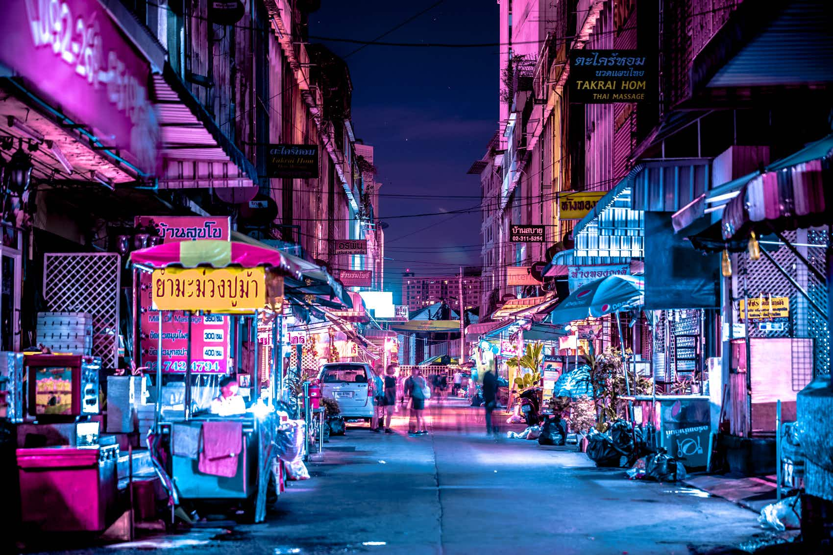 This photo series captures neon-tinged Bangkok like you've never seen it before