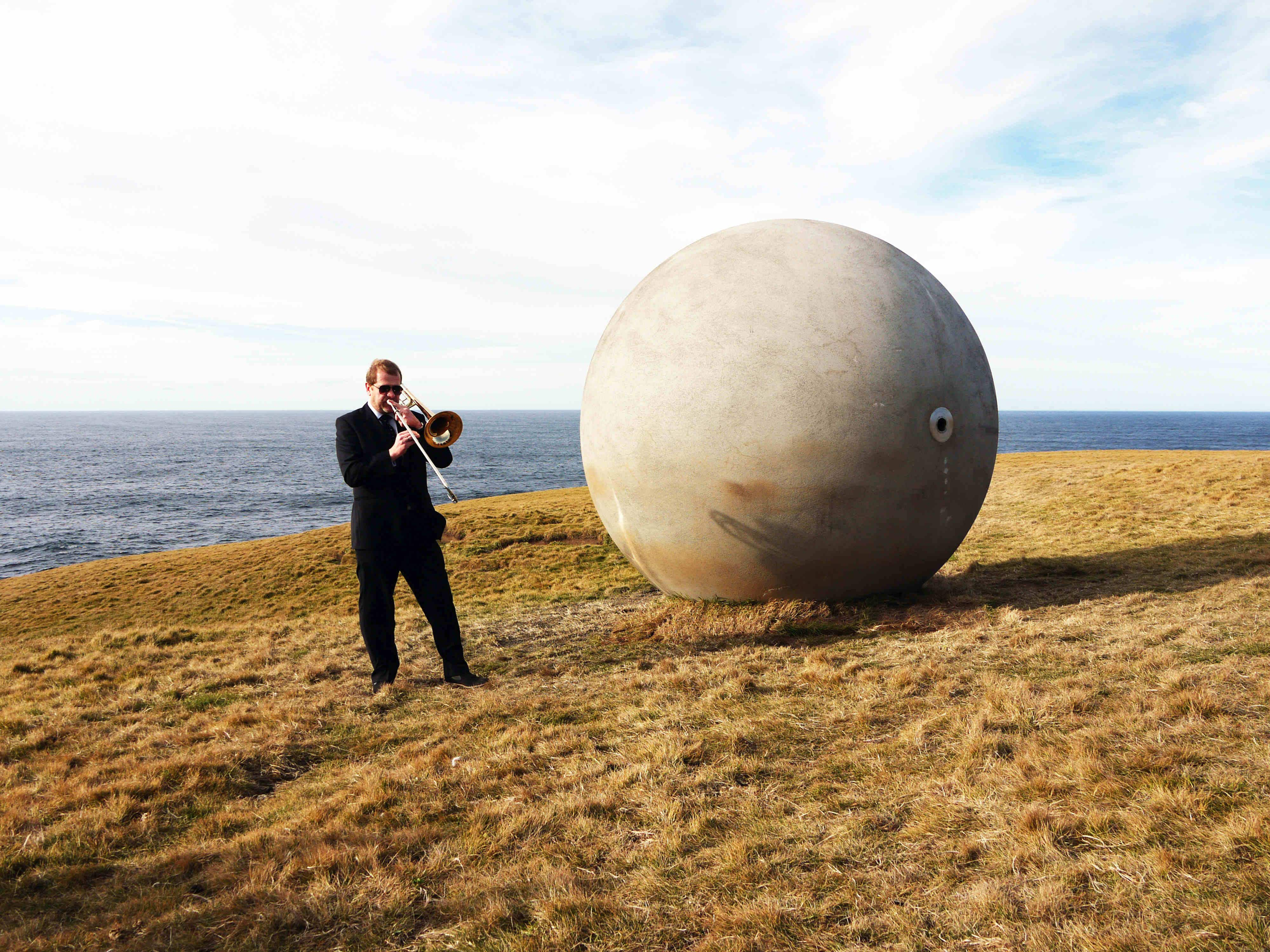 How this giant sphere in Iceland is keeping track of where the Arctic Circle is