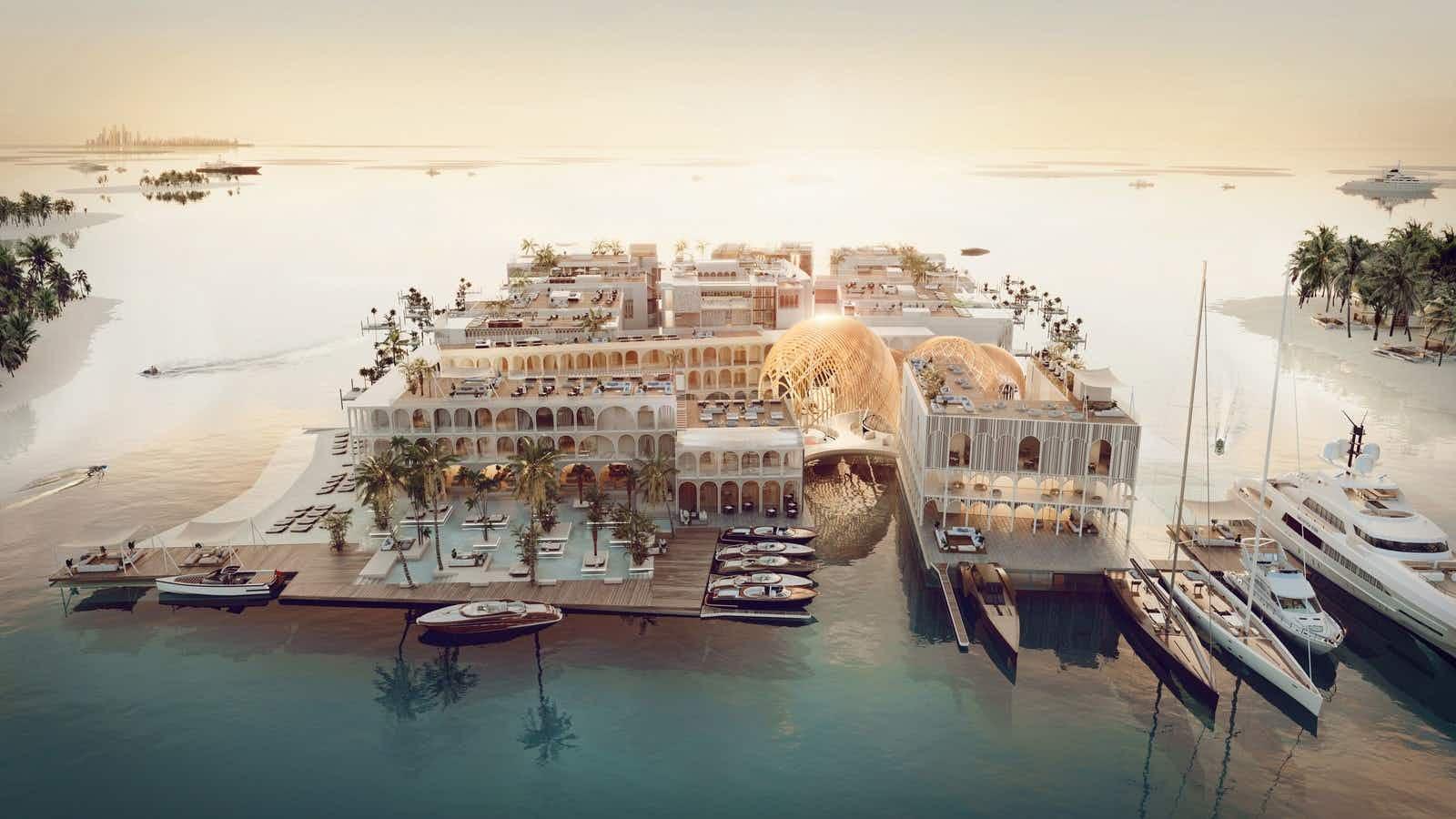 The world's first underwater luxury vessel resort will be built in Dubai