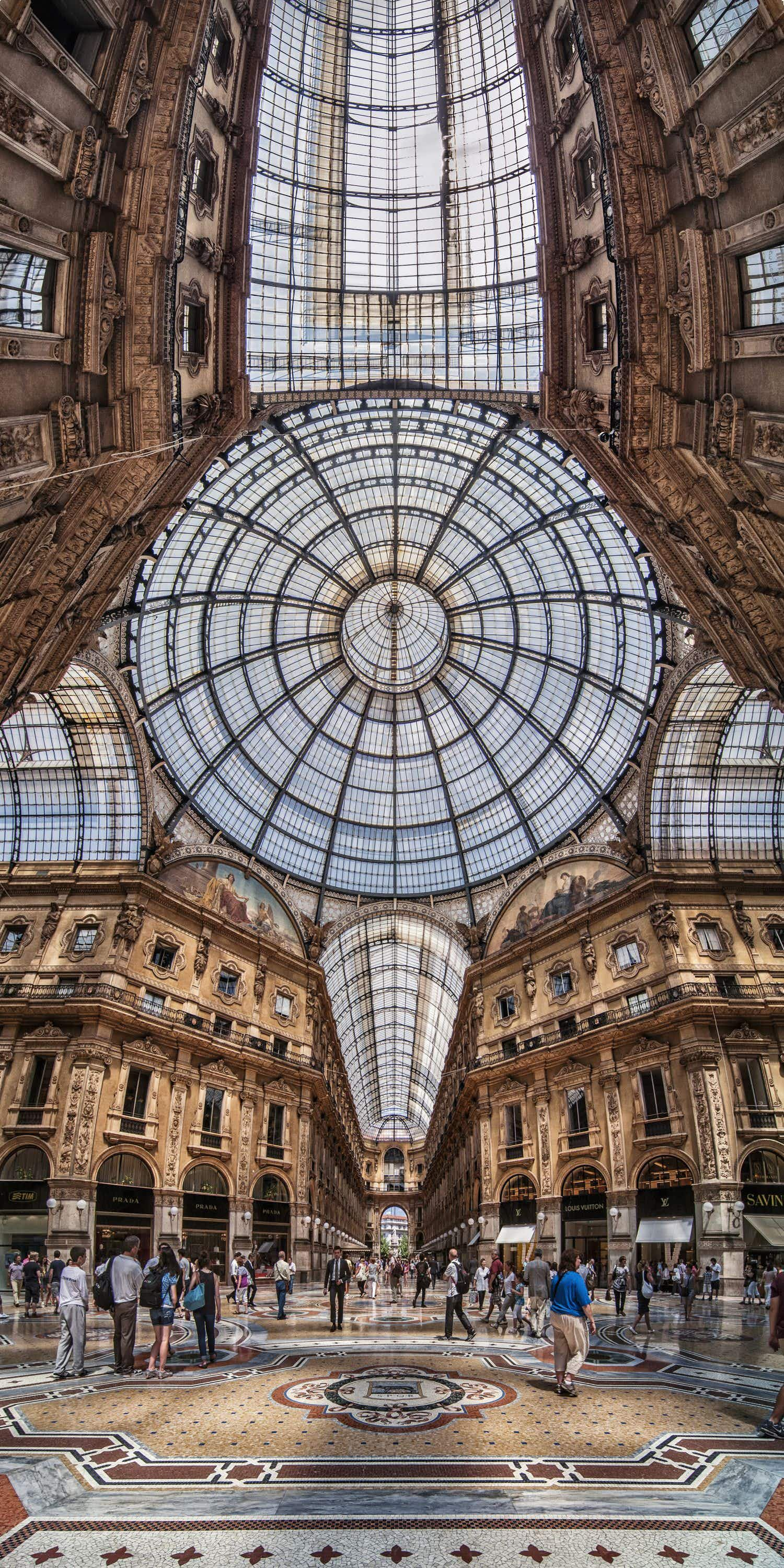 This panoramic photo technique captures the full breadth of Italy's incredible architecture