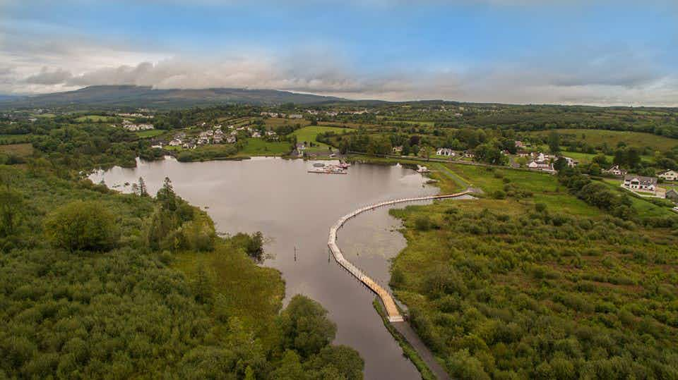 Ireland's first floating boardwalk has opened on the River Shannon in Leitrim