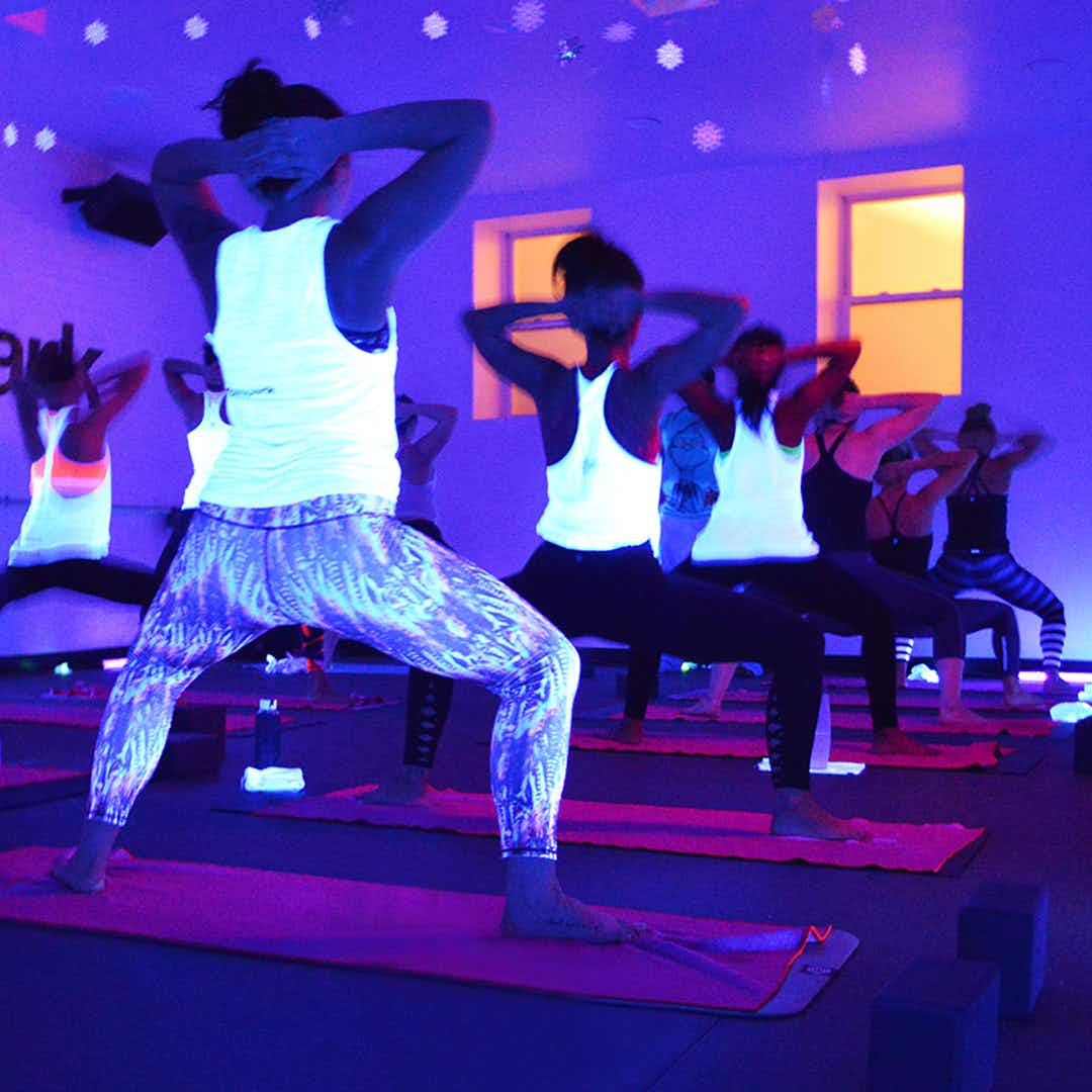 Blacklight Yoga is the latest fitness craze to hit New York