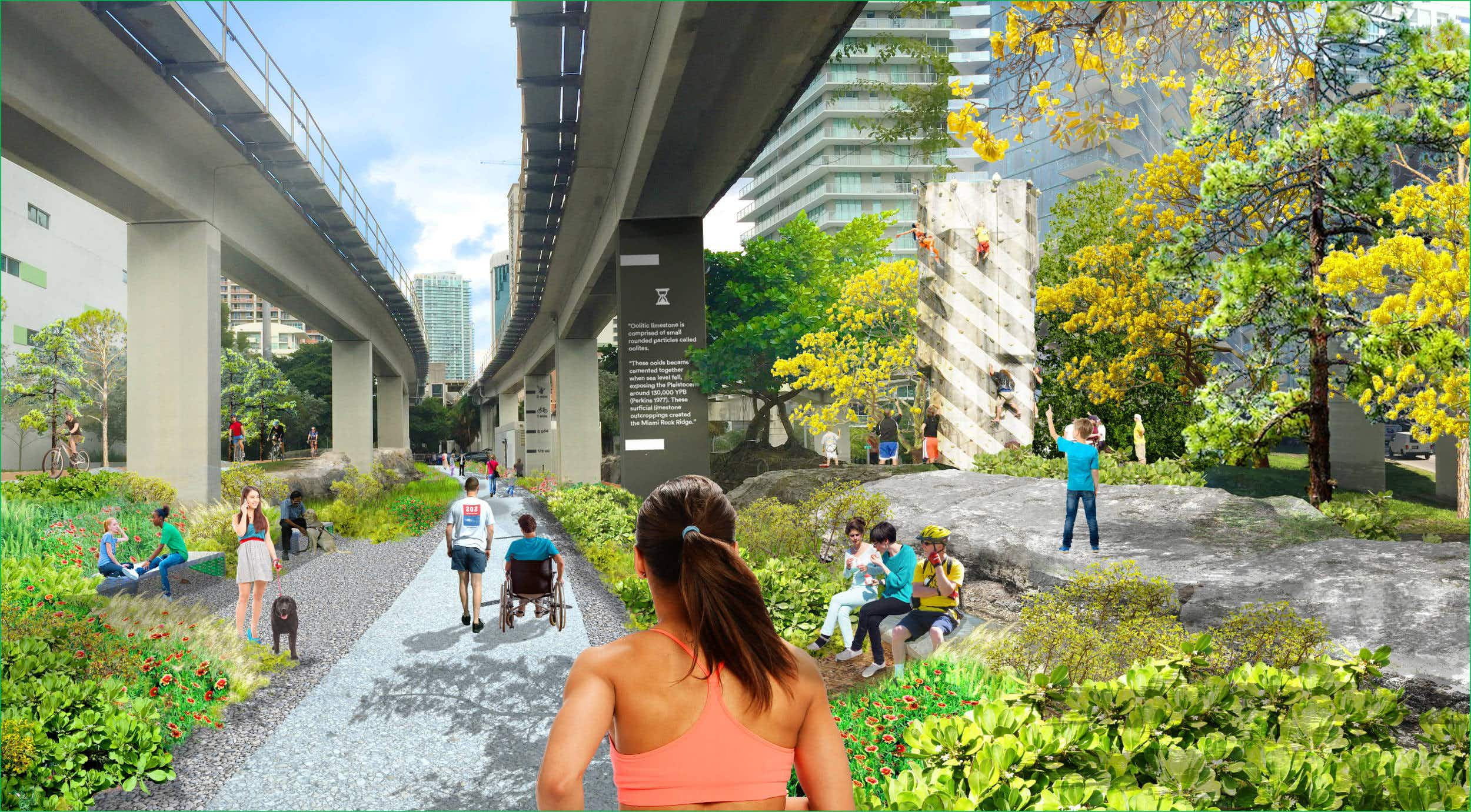 Miami is developing a ten-mile urban park just like New York's popular High Line