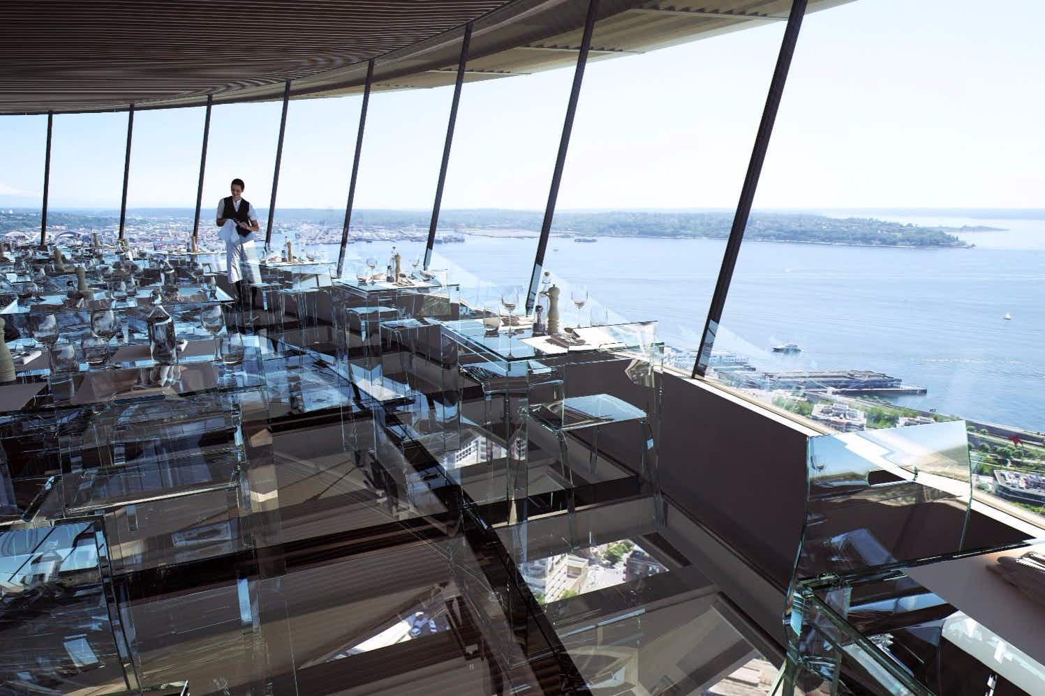 Seattle's Space Needle is getting a rotating, glass-bottomed restaurant