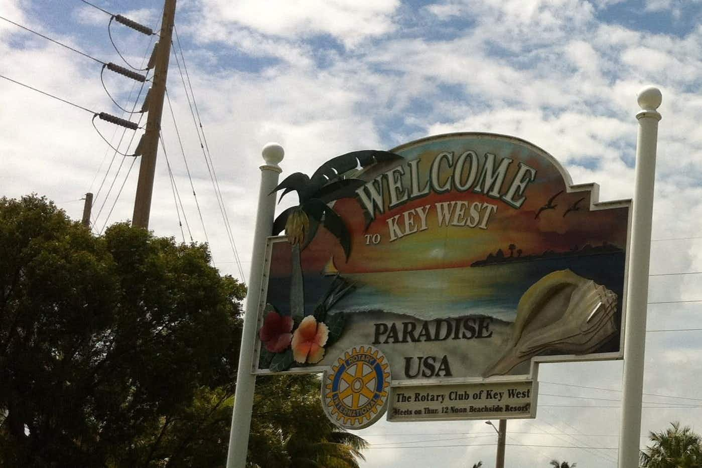 Florida's Key West welcome sign is back home again