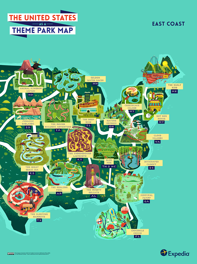 See the USA as an outdoor theme park with this colourful map ... Map Of America East Coast on central united states, map of western america, northwestern united states, map of usa america, map of mexico america, western united states, eastern united states, map of north america, northeast megalopolis, tropical storm irene, southeastern united states, map of central america, map of south america, west coast of the united states, gulf coast of the united states, united states of america, deep south, map of barrier island north carolina coast, native american tribes maps north america, map of caribbean america, atlantic canada, intracoastal waterway, map of midwest america, mid-atlantic states, map of southern america, map of united states america, map of mid atlantic america, map of new york america, southwestern united states, map of southeast america, northeastern united states,