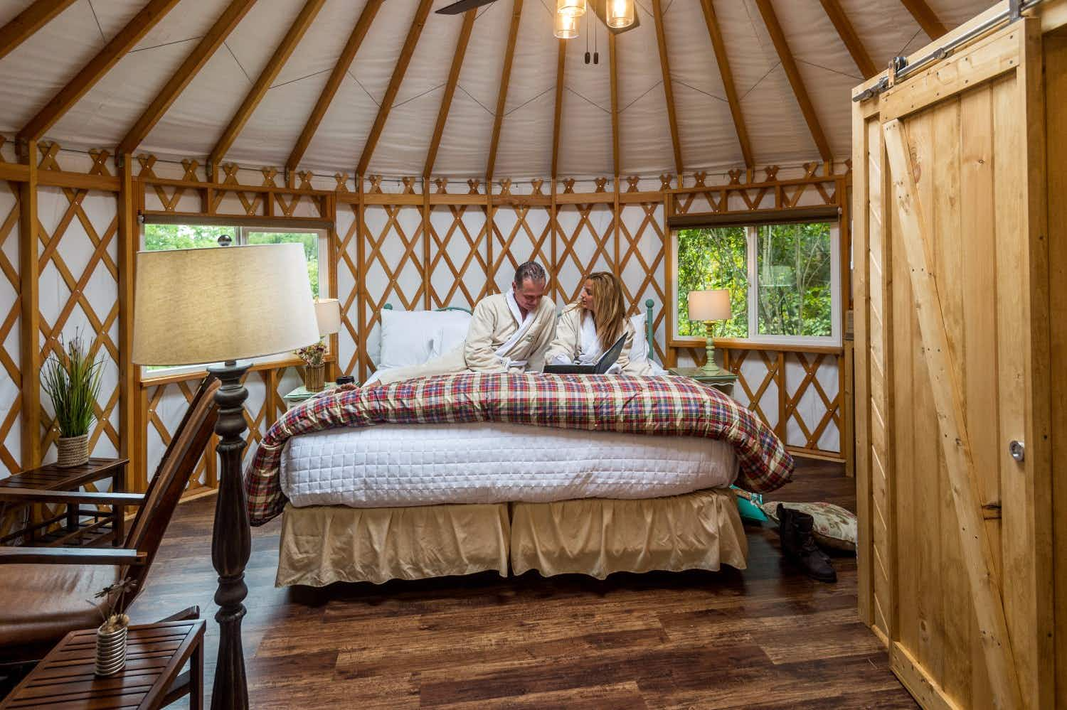 You can now sleep beneath the stars in a luxury yurt in Ohio