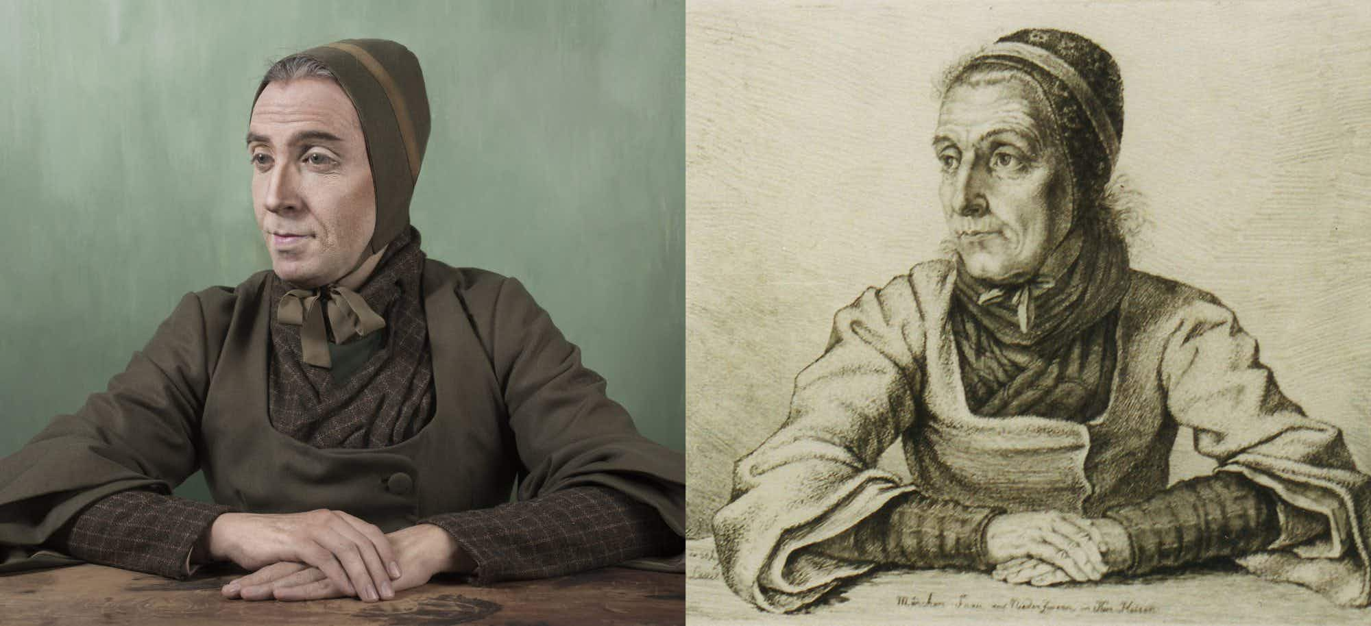 A Lima artist has gone viral for photographing himself looking like his ancestors