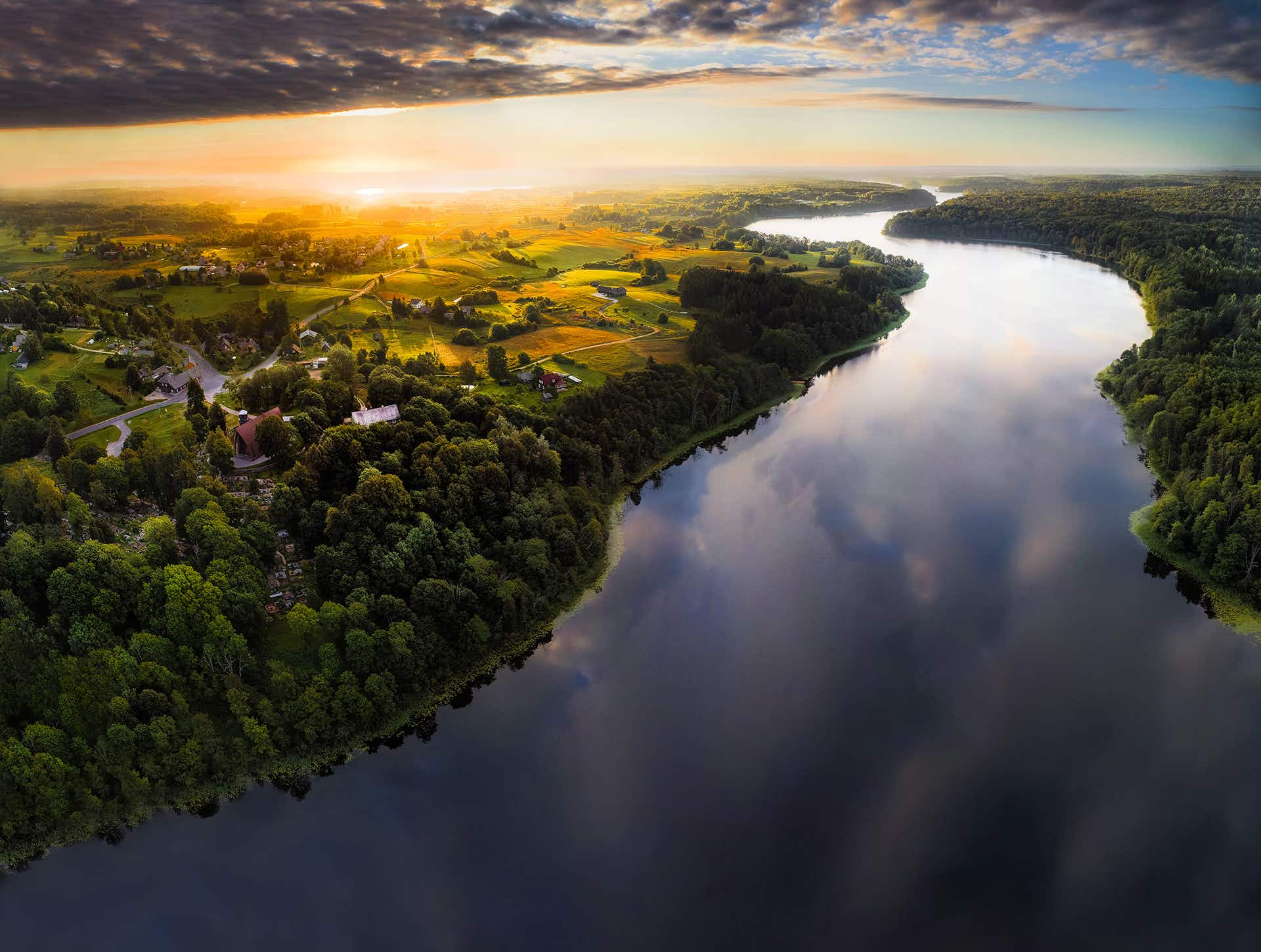 The spectacular beauty of Lithuania captured by drone