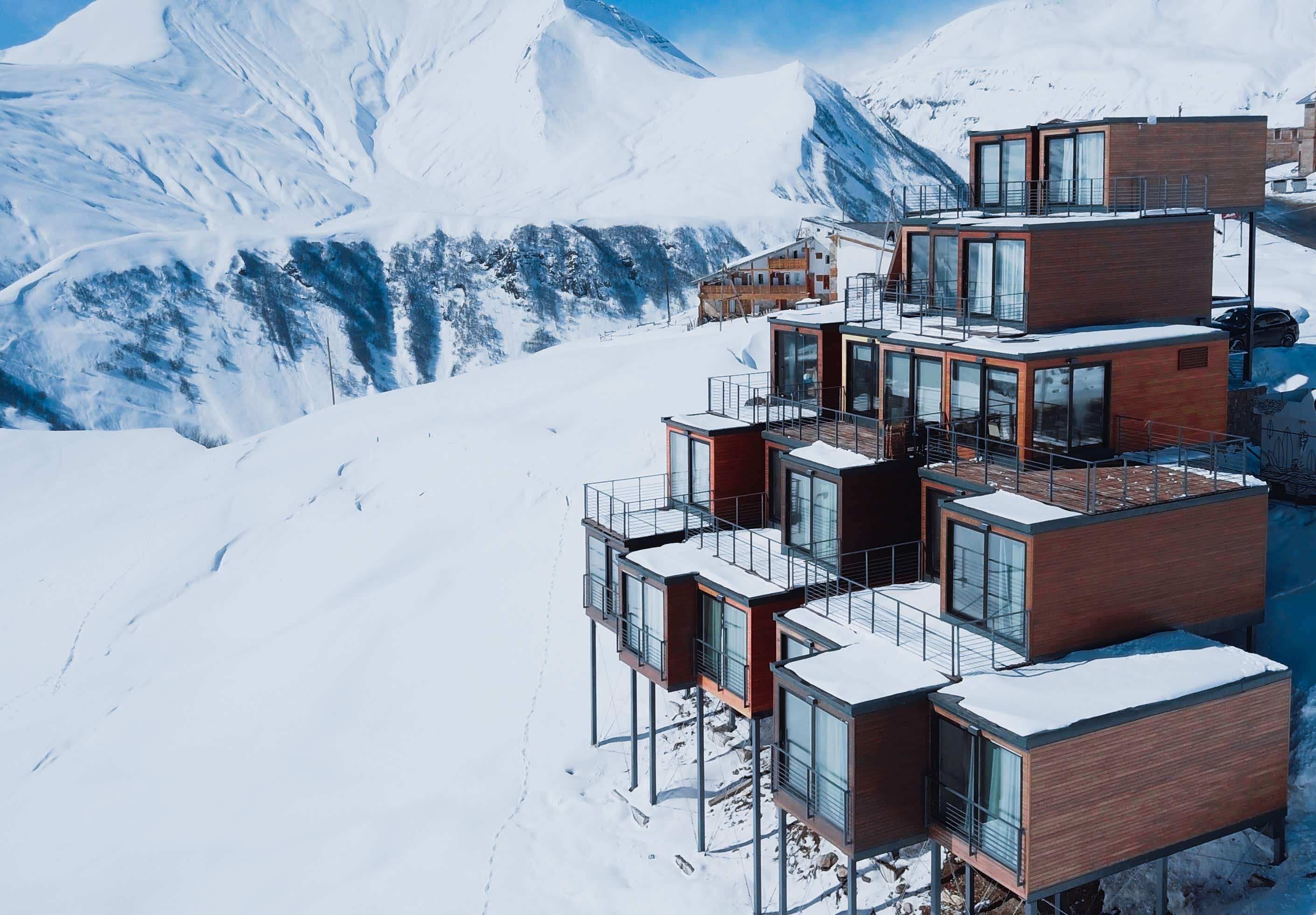 The ski resort made almost entirely of repurposed shipping containers