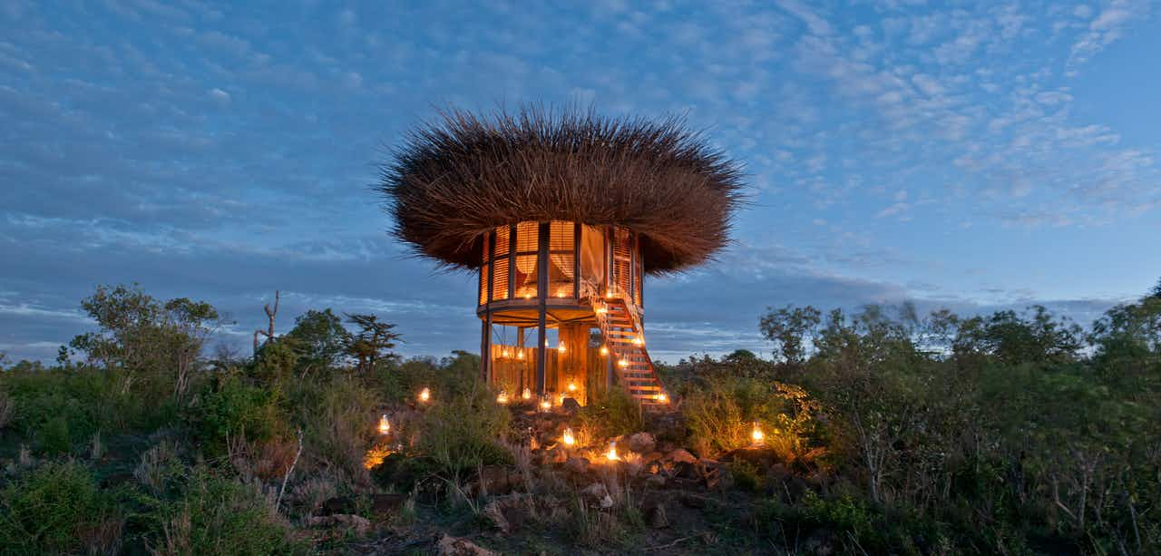 Sleep a night inside this incredible bird's nest villa in the heart of Kenya