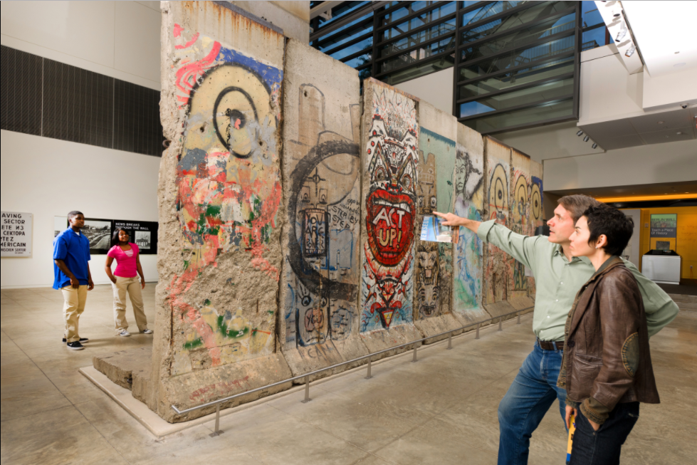 Help take down the Berlin Wall in Washington DC's Newseum