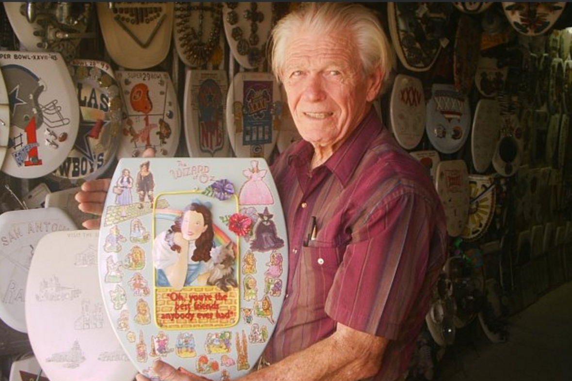 A toilet seat art museum is up for sale in Texas
