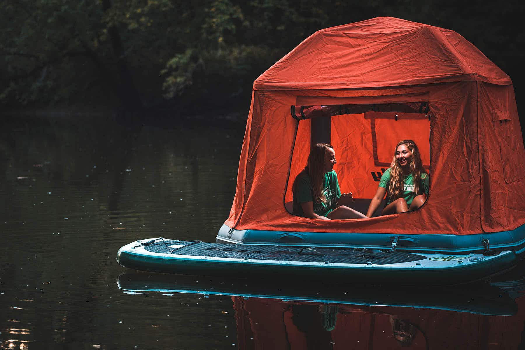 Spend a night on the water in this incredible floating tent