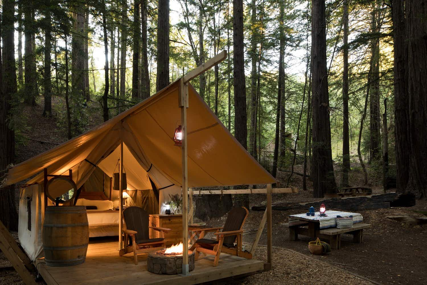 Inside the luxurious new glamping site in Big Sur, California