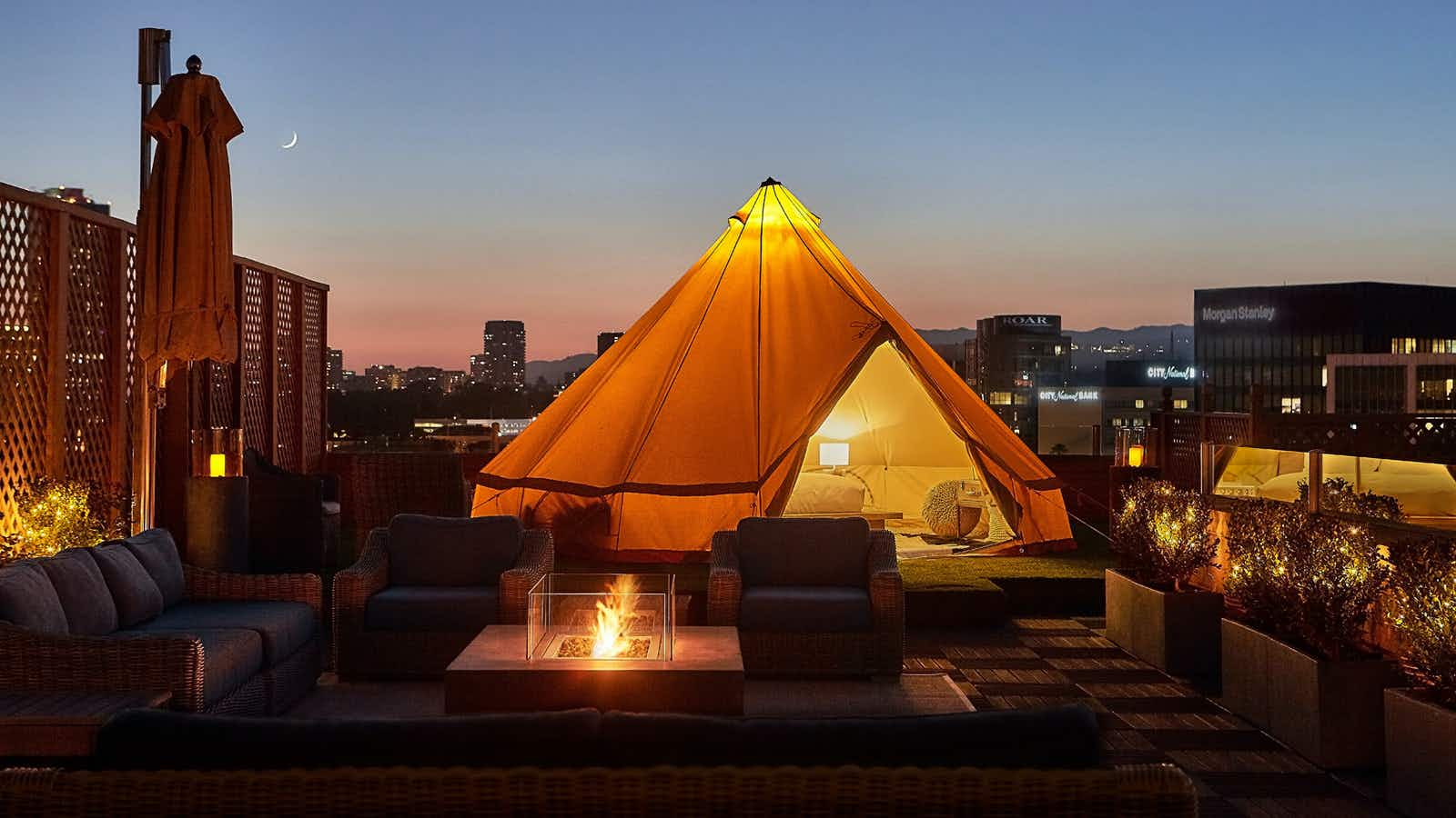 Go glamping on the terrace of the hotel from Pretty Woman