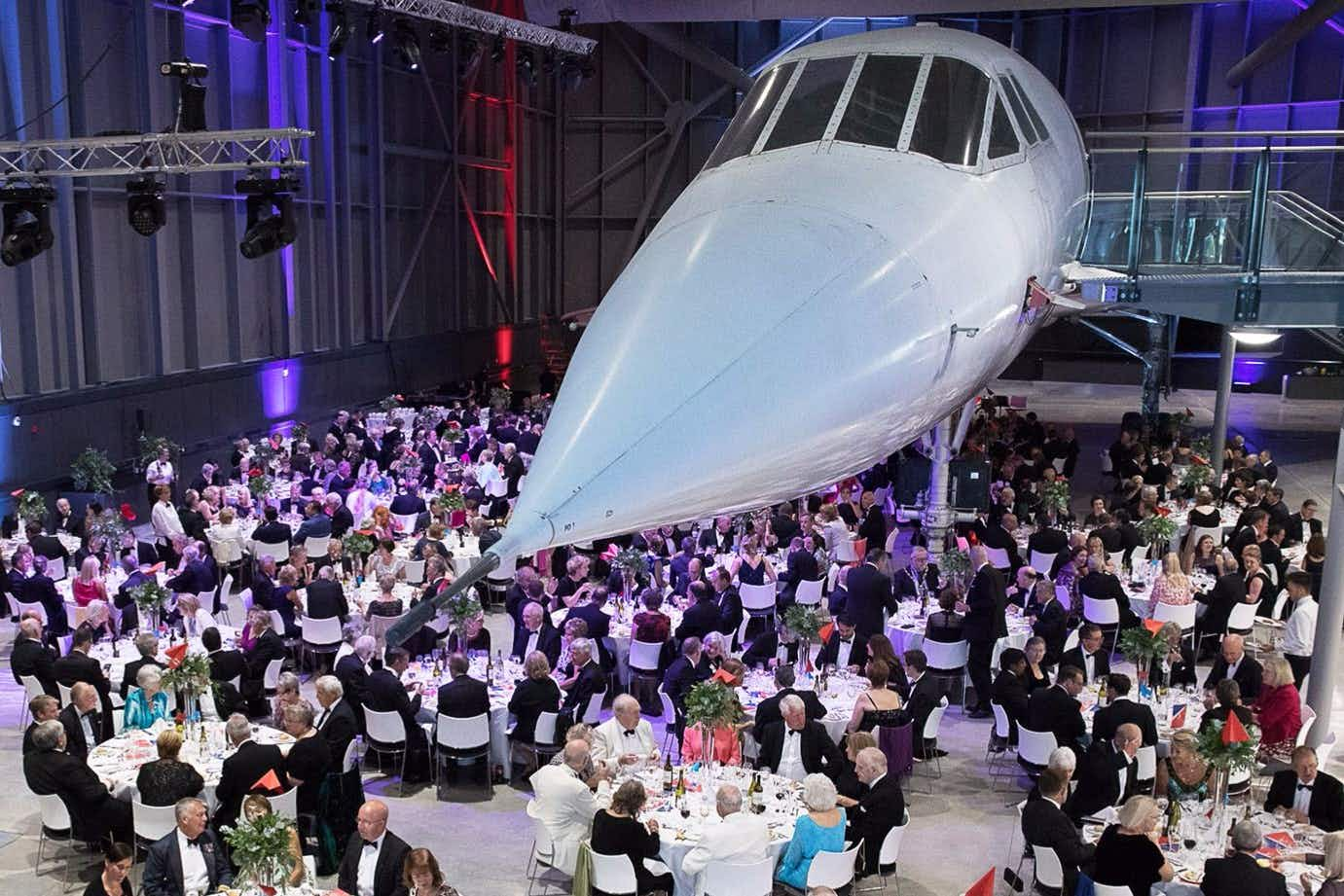 Dine underneath the last Concorde at this new aviation museum
