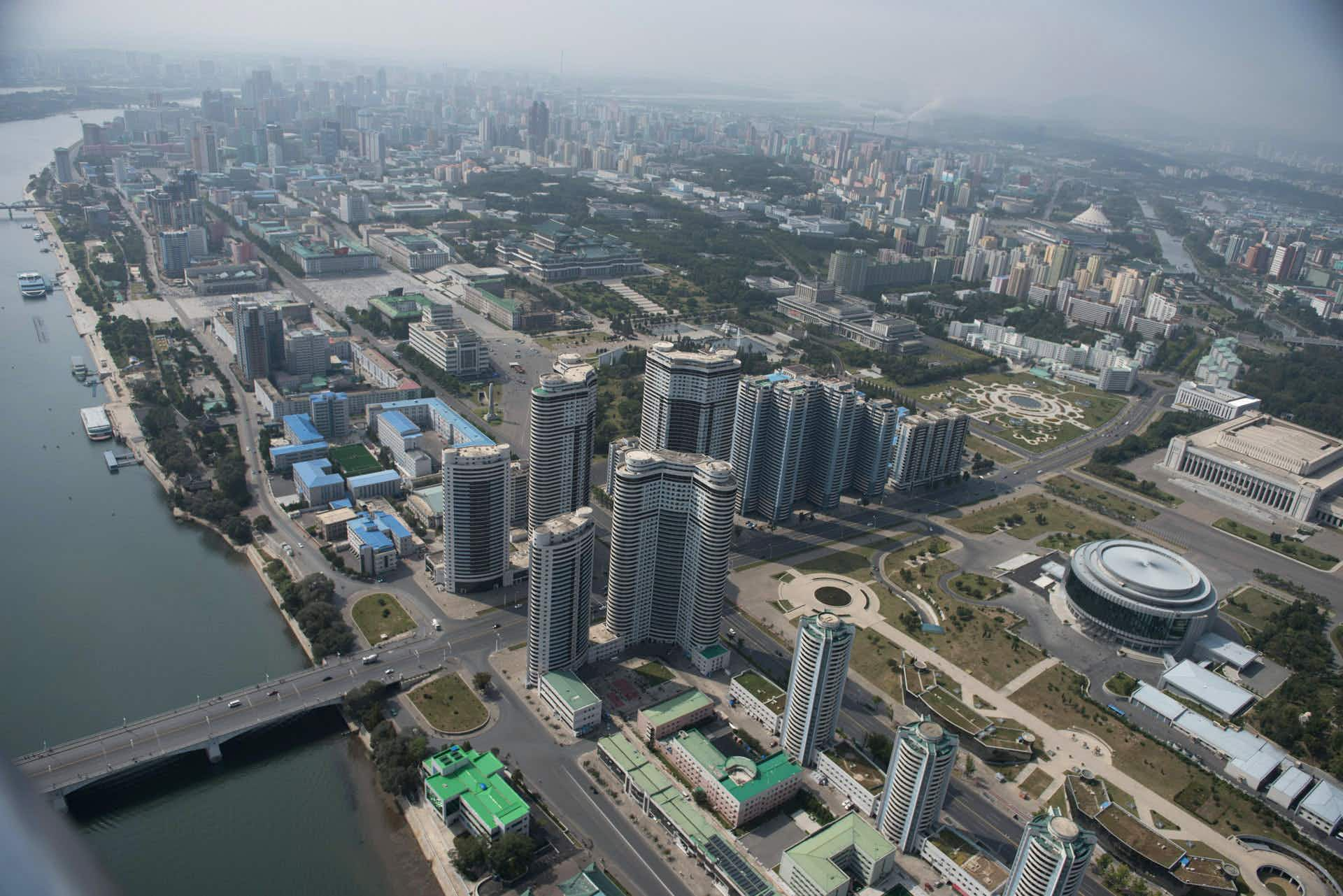 See North Korea's capital city from above in this amazing exclusive video