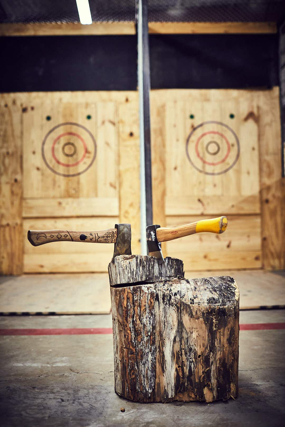 Fancy trying competitive axe throwing?  Fast becoming America's fun new pastime