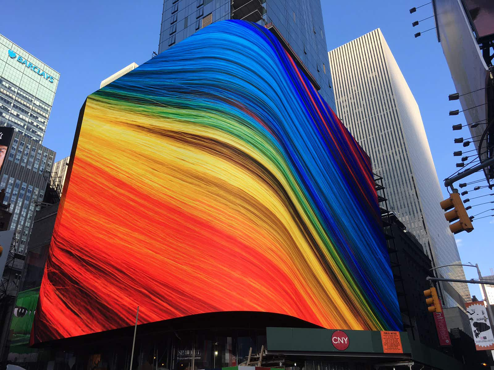 Soon you can stay behind a 17,000-square-foot LED screen in Times Square