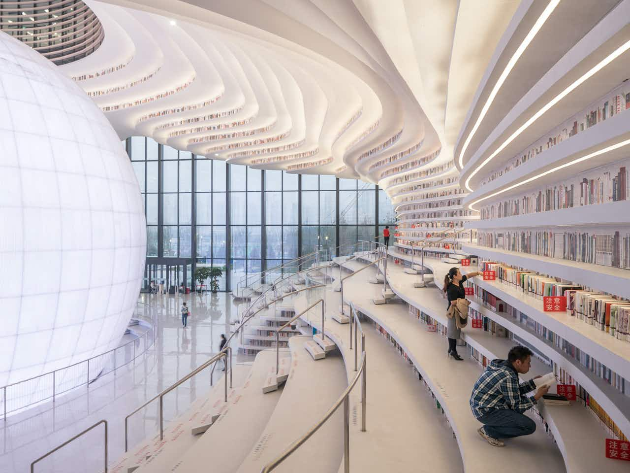 This futuristic library with more than a million books opens in China