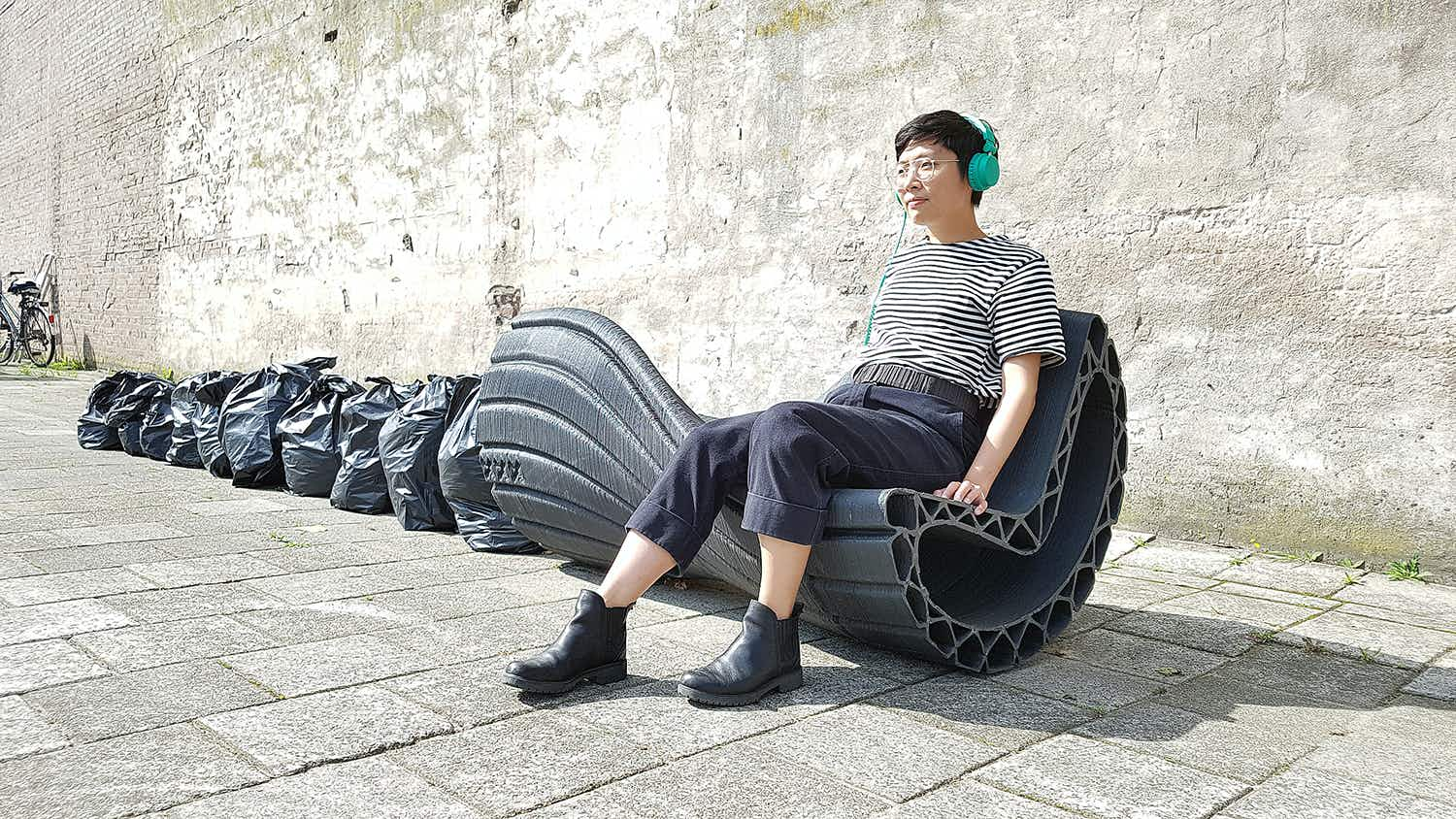 Print your city: project turns plastic waste into urban furniture