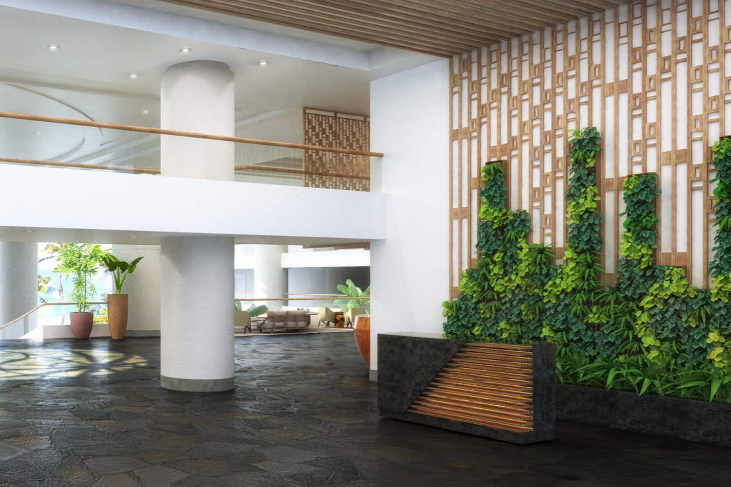 This living vertical garden in a Hawaiian resort will make you feel totally Zen