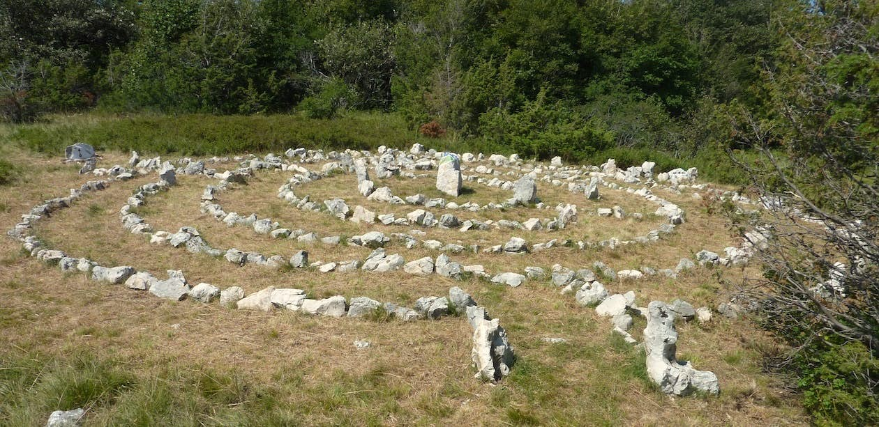 The stone labyrinth. Photo by Boris Pecigoš