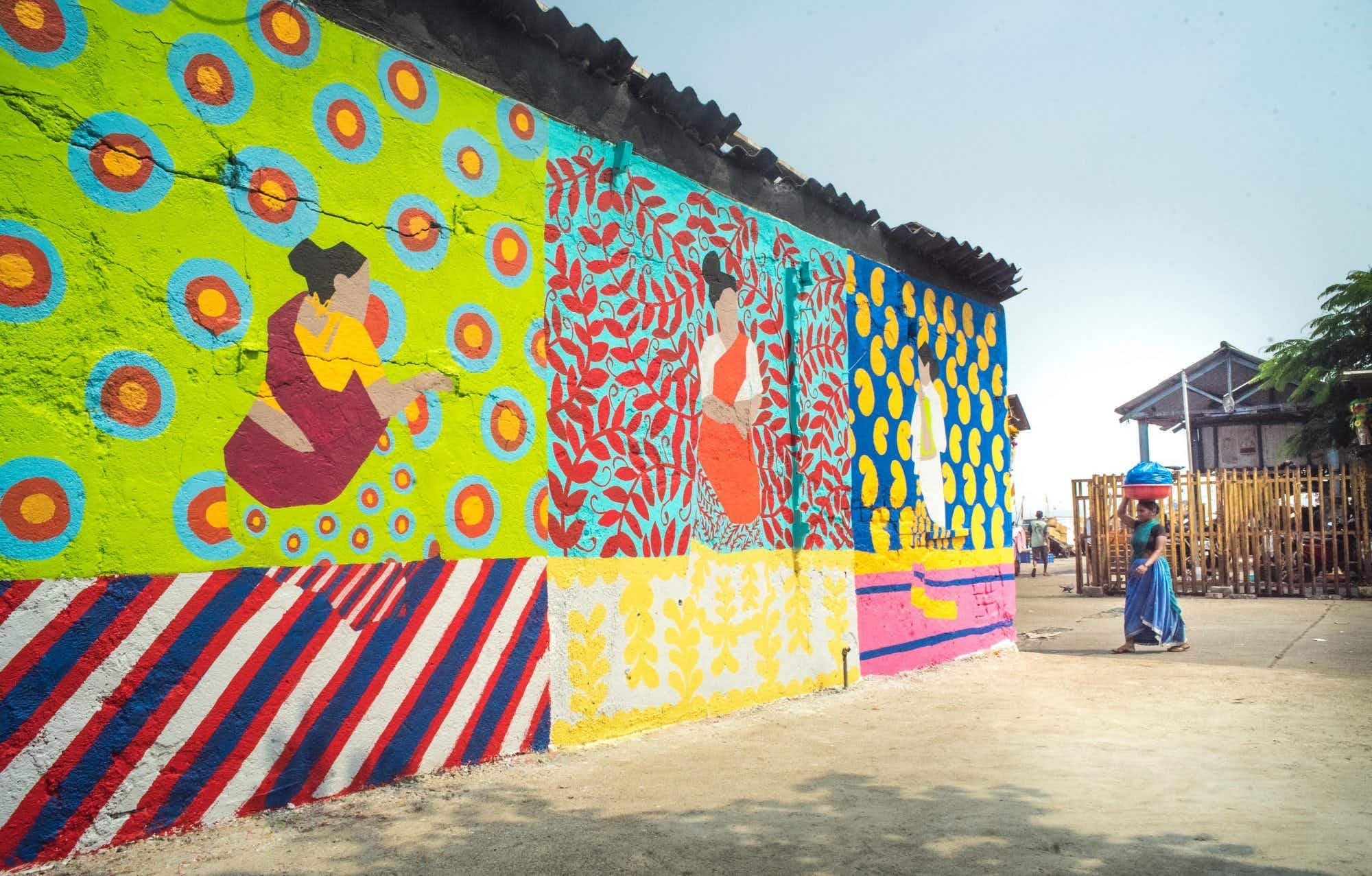 An old fishing area in Mumbai is getting an artistic makeover