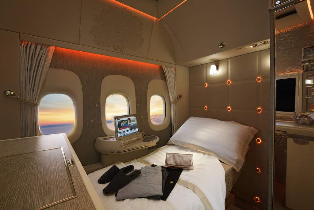 Emirates' first class suites are so private, you don't have to see anyone for your whole journey