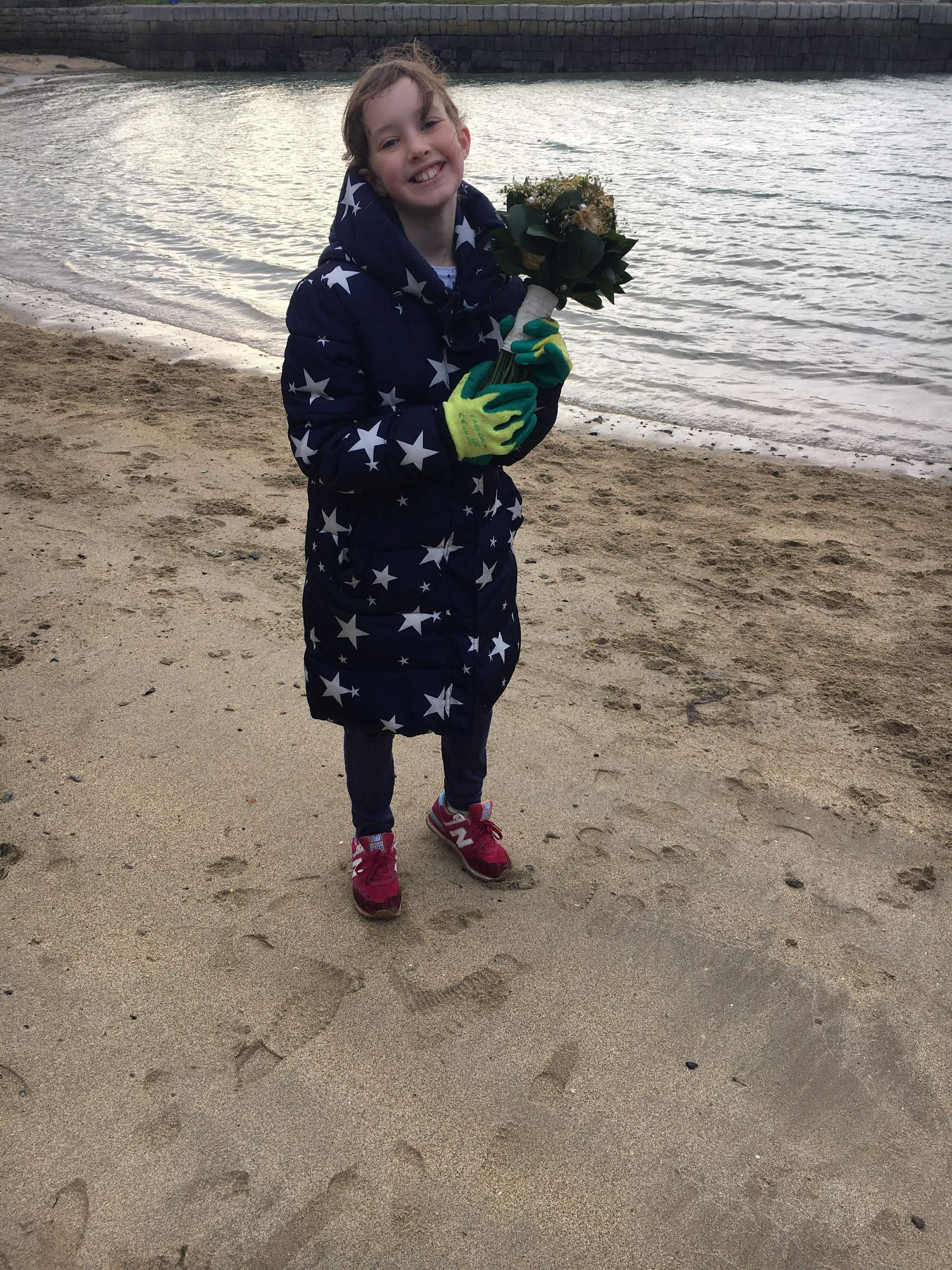 One 10-year-old Dublin girl is passionately leading a beach cleaning project in her hometown