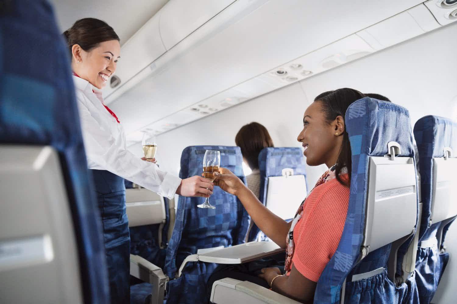 You're more likely to get better service on an airplane if you sit here