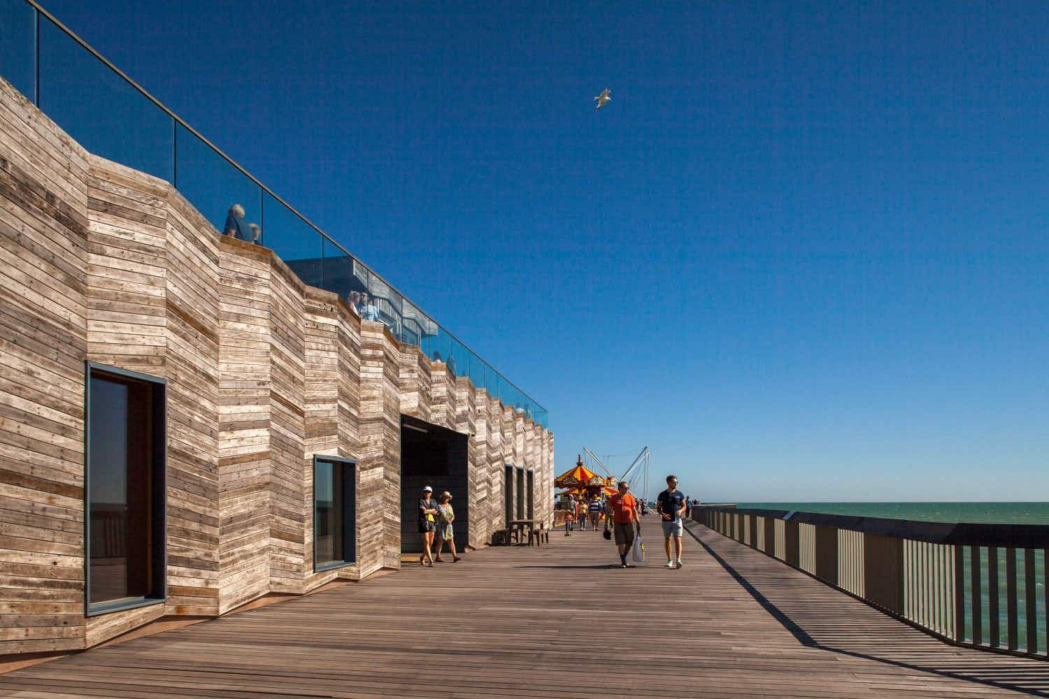 The revitalised Hastings Pier has been named the UK's best new building