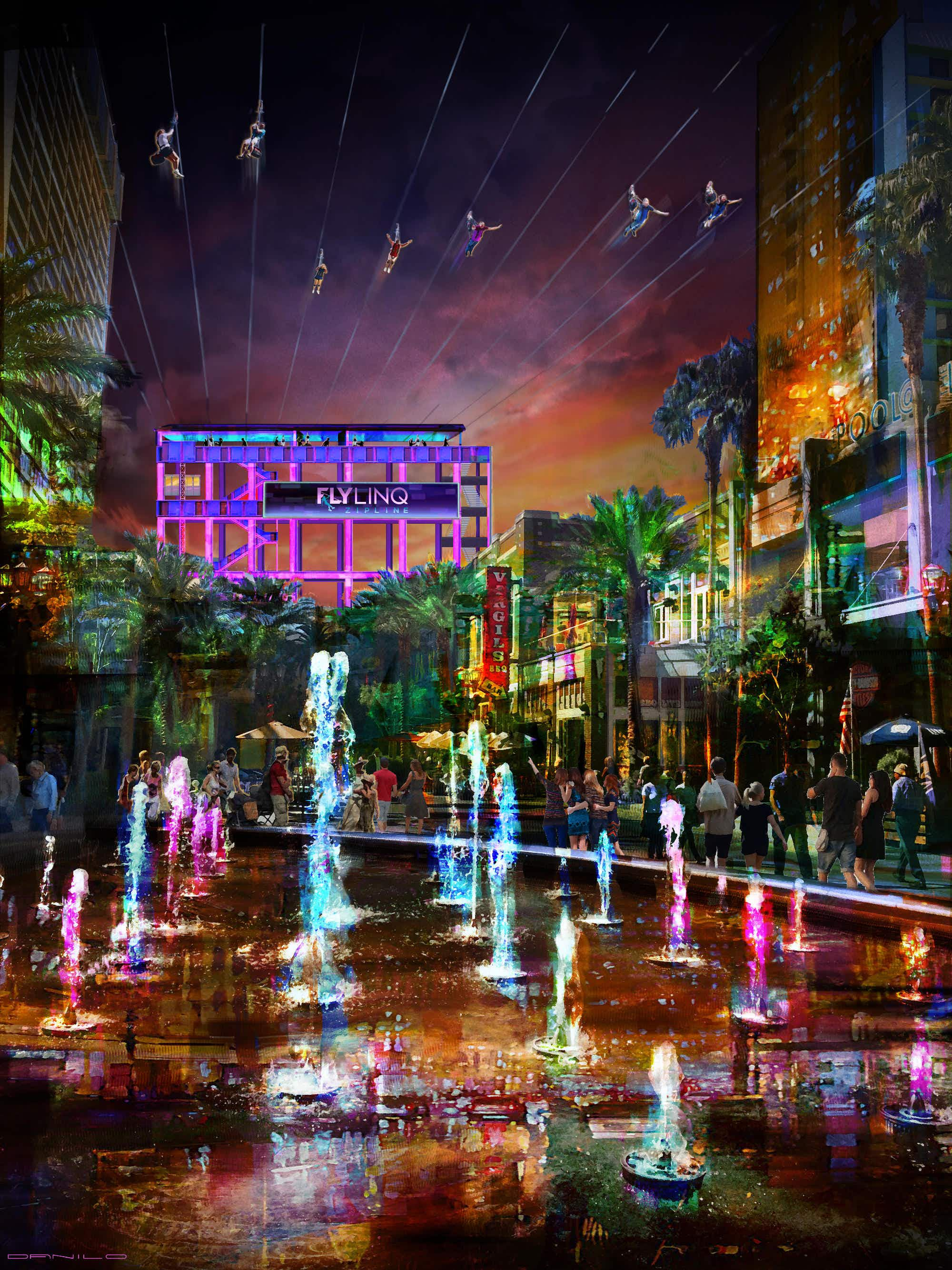 Ten zip lines to be installed high above the Las Vegas strip