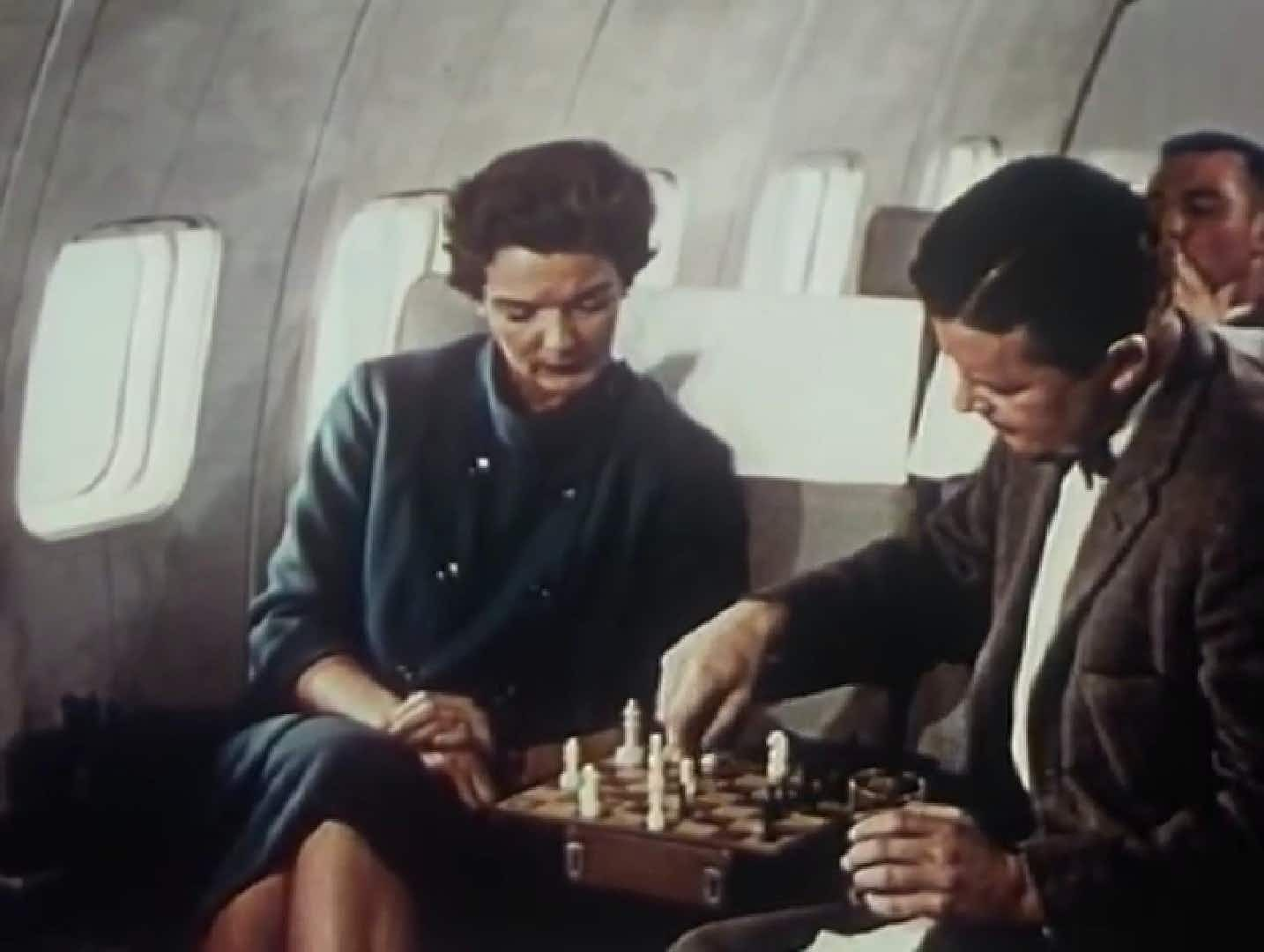 Newly-discovered video shows the onboard comforts in the golden age of travel
