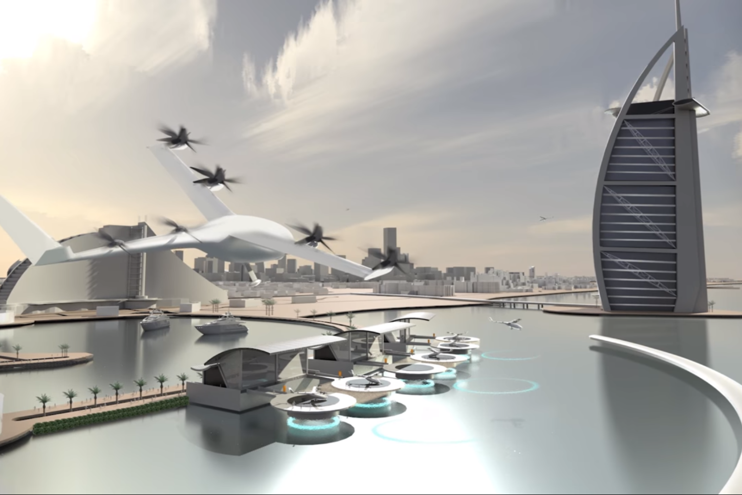 Uber is aiming to launch flying taxis in LA, Dallas and Dubai by 2020